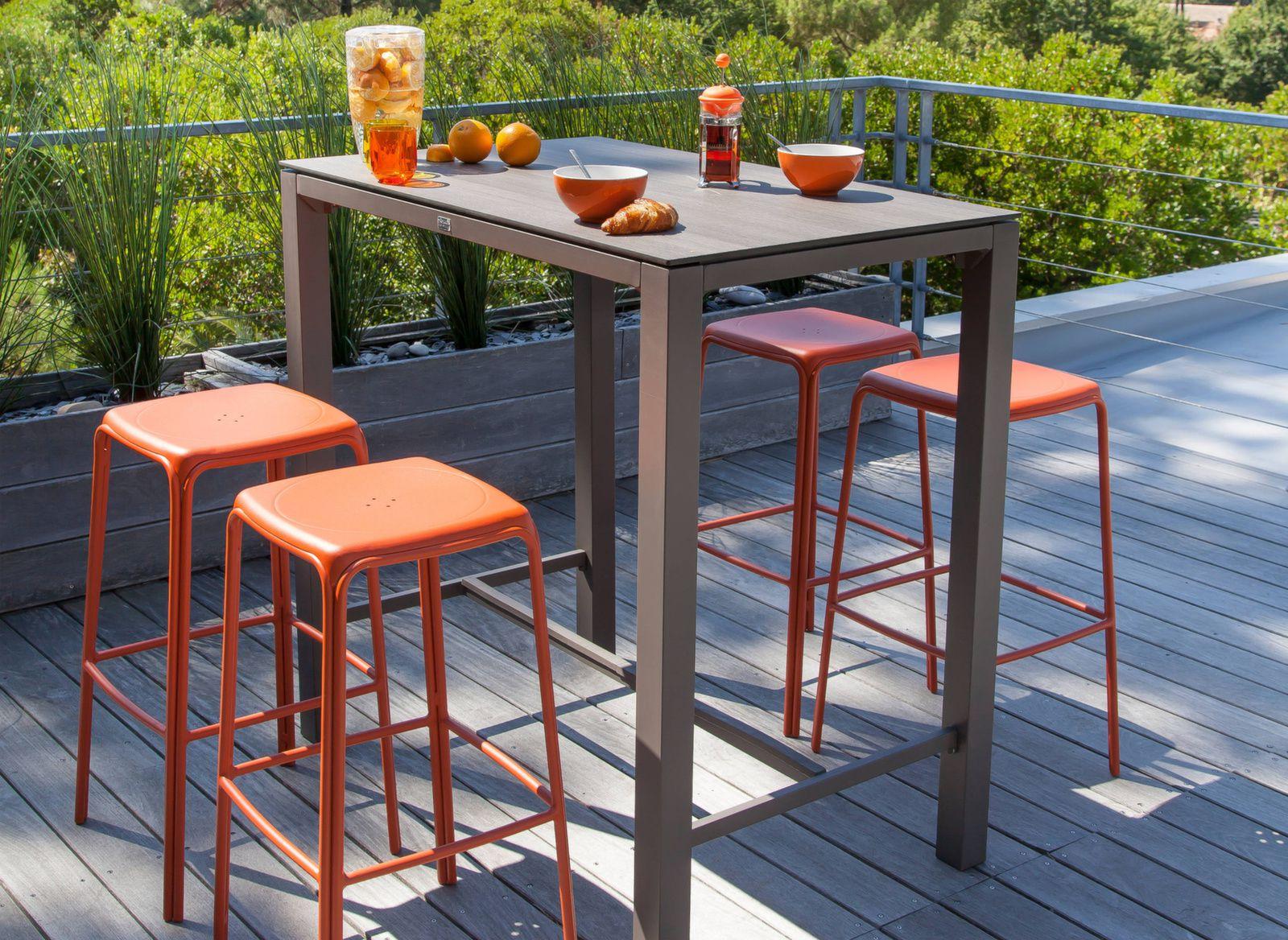 tabouret d ext rieur haut empilable azuro tabourets proloisirs. Black Bedroom Furniture Sets. Home Design Ideas