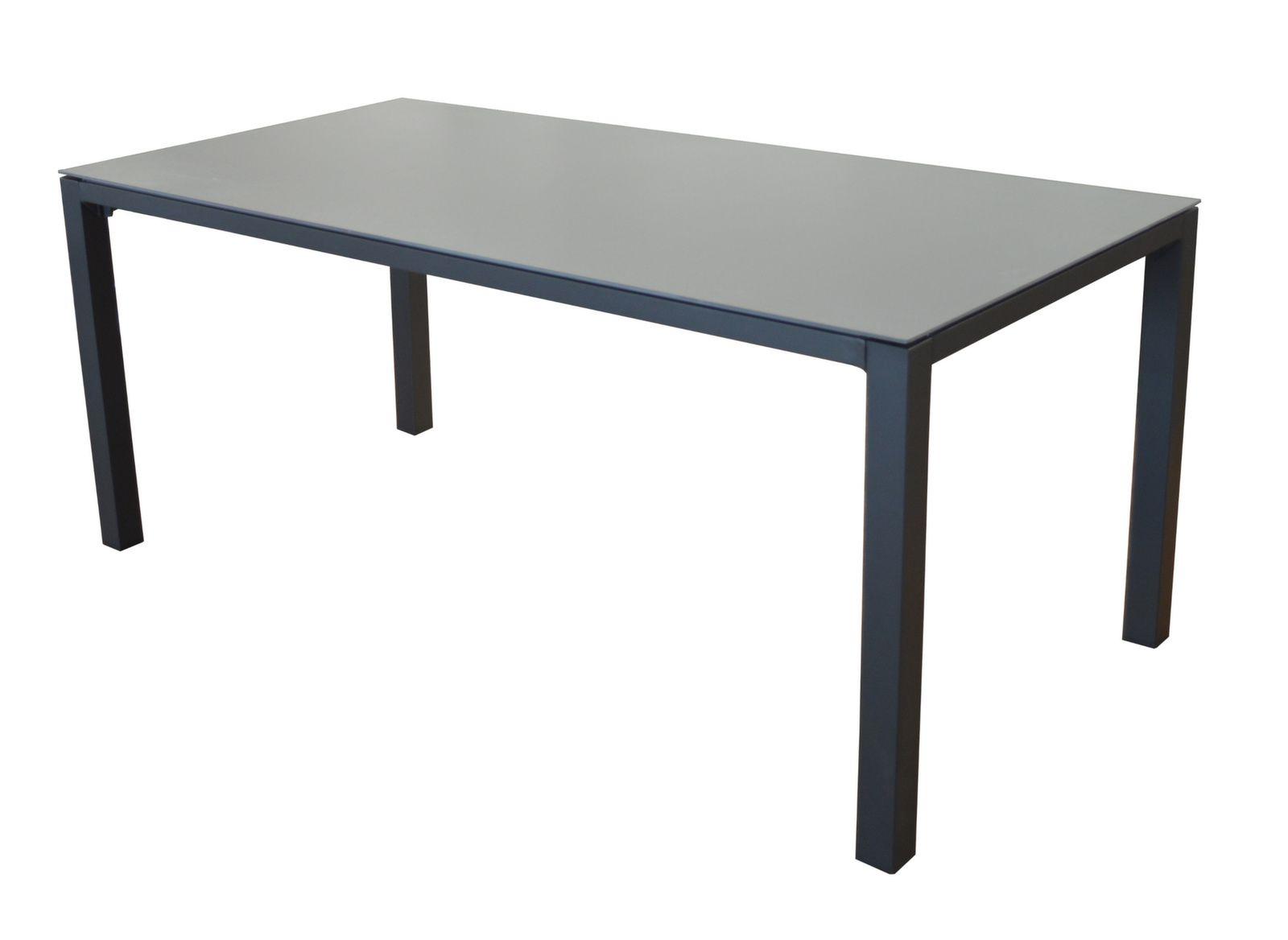 Table de jardin bavella 180cm plateau c ramique proloisirs for Plateau table 180