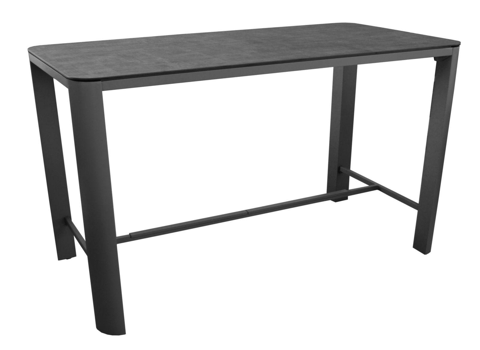 table eole haute 150x75 plateau trespa tables hautes de jardin. Black Bedroom Furniture Sets. Home Design Ideas