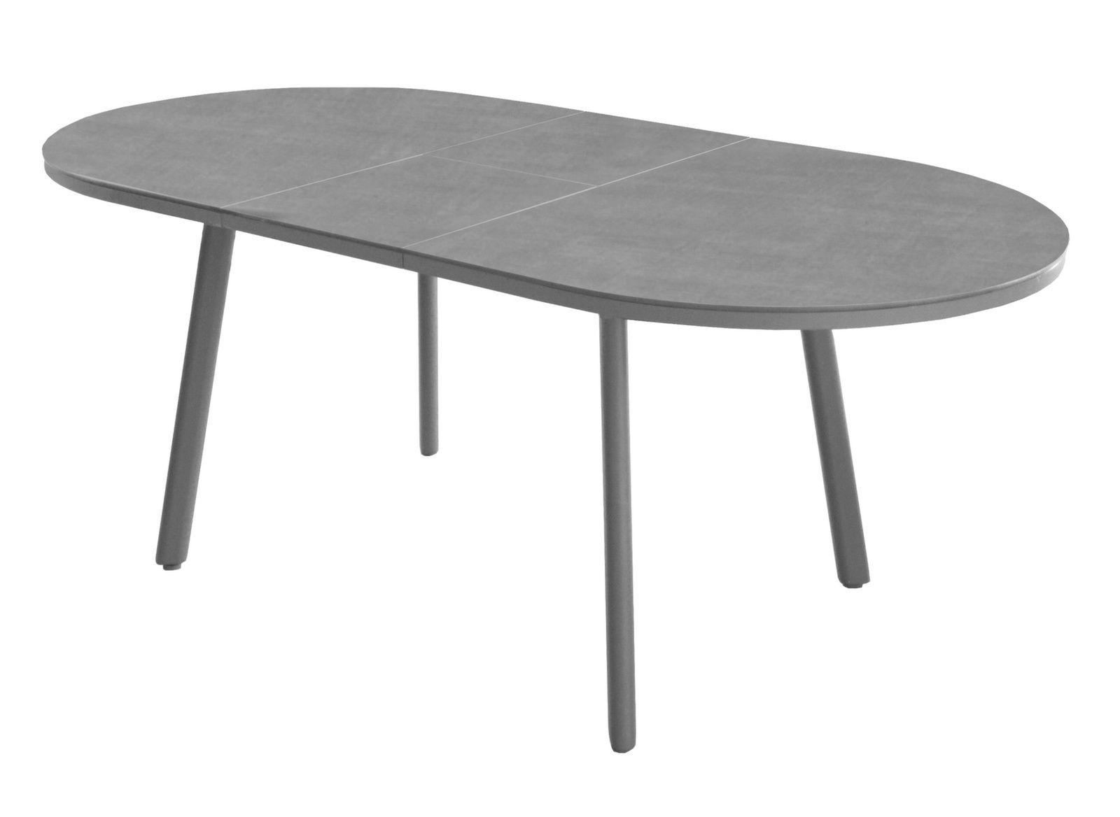 Table de jardin aluminium Bilbao 160/200 cm - Gamme Océo - Proloisirs