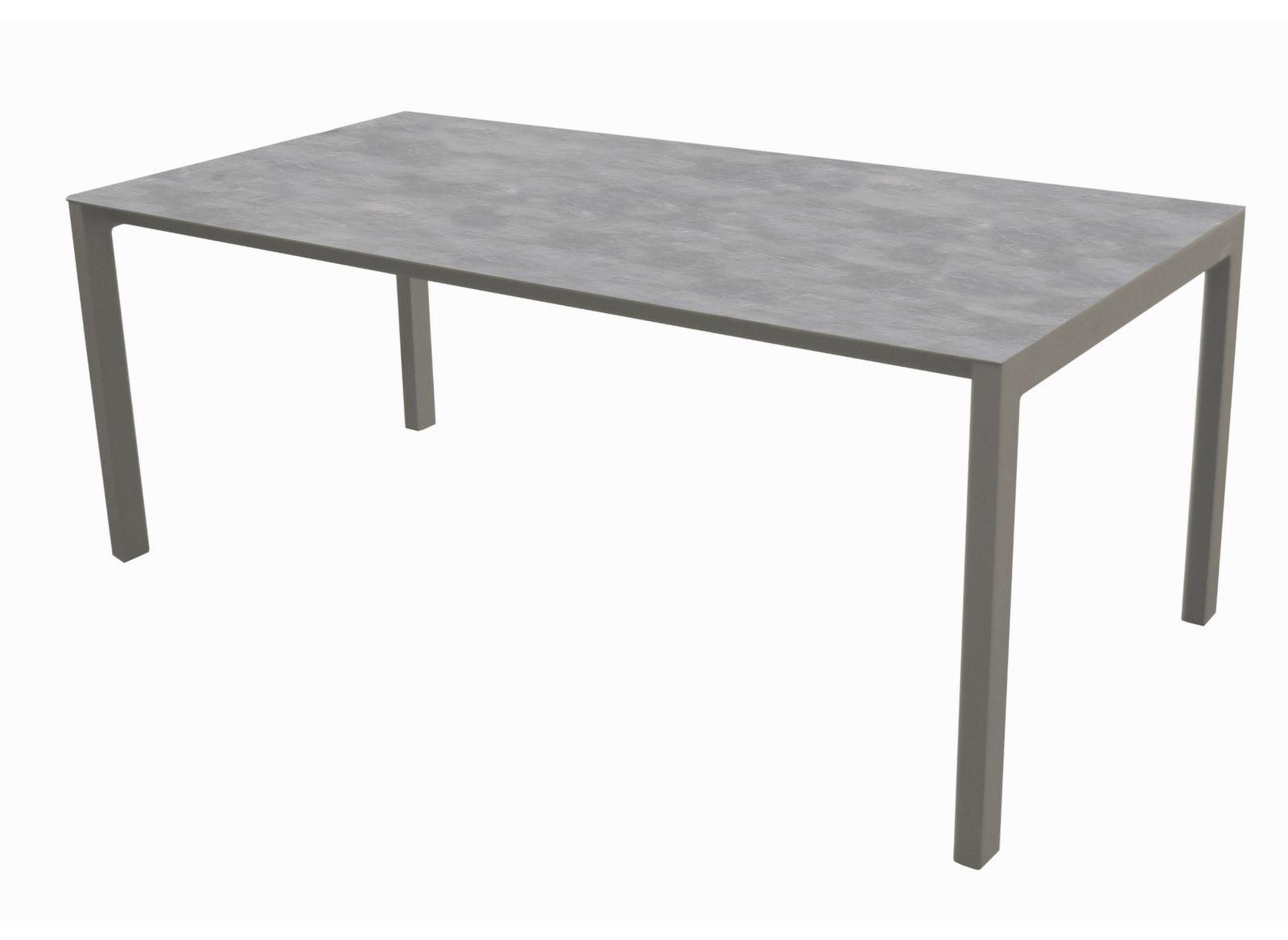 table de jardin soto 180cm plateau arpa aliz proloisirs