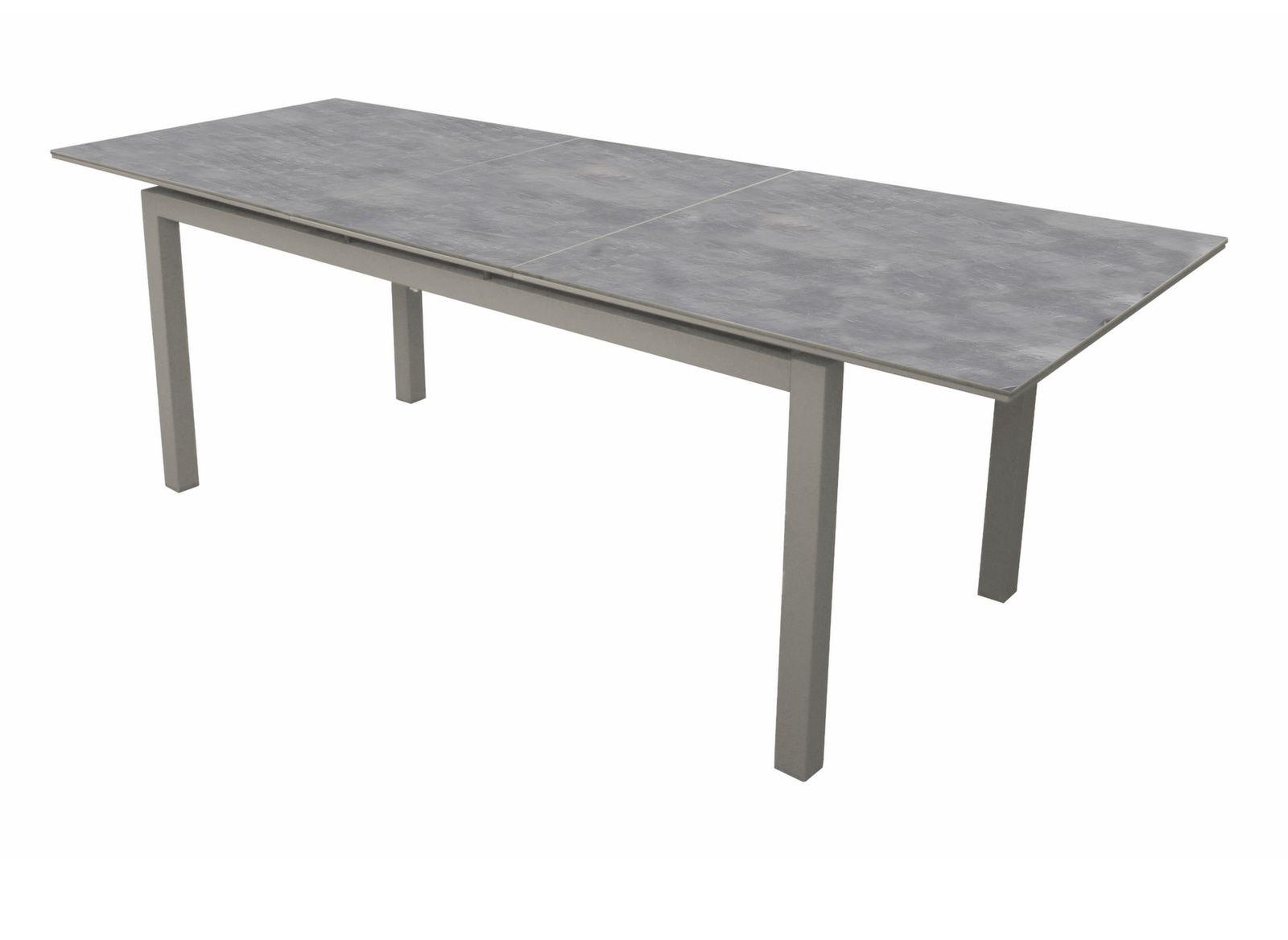 Table de jardin soto 180 235cm plateau arpa aliz for Plateau table 180