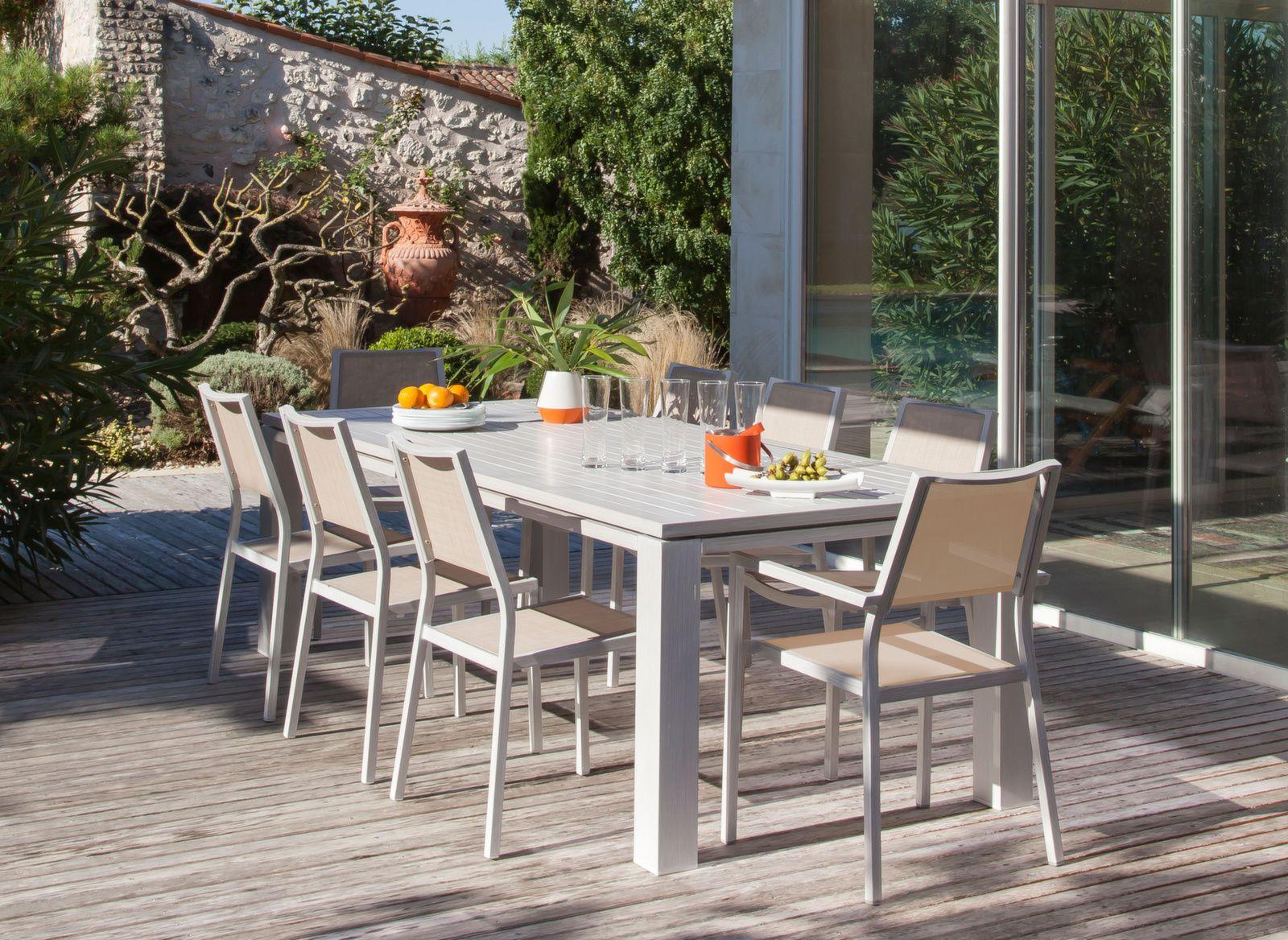 Table de jardin aluminium - Meuble d\'extérieur - Proloisirs