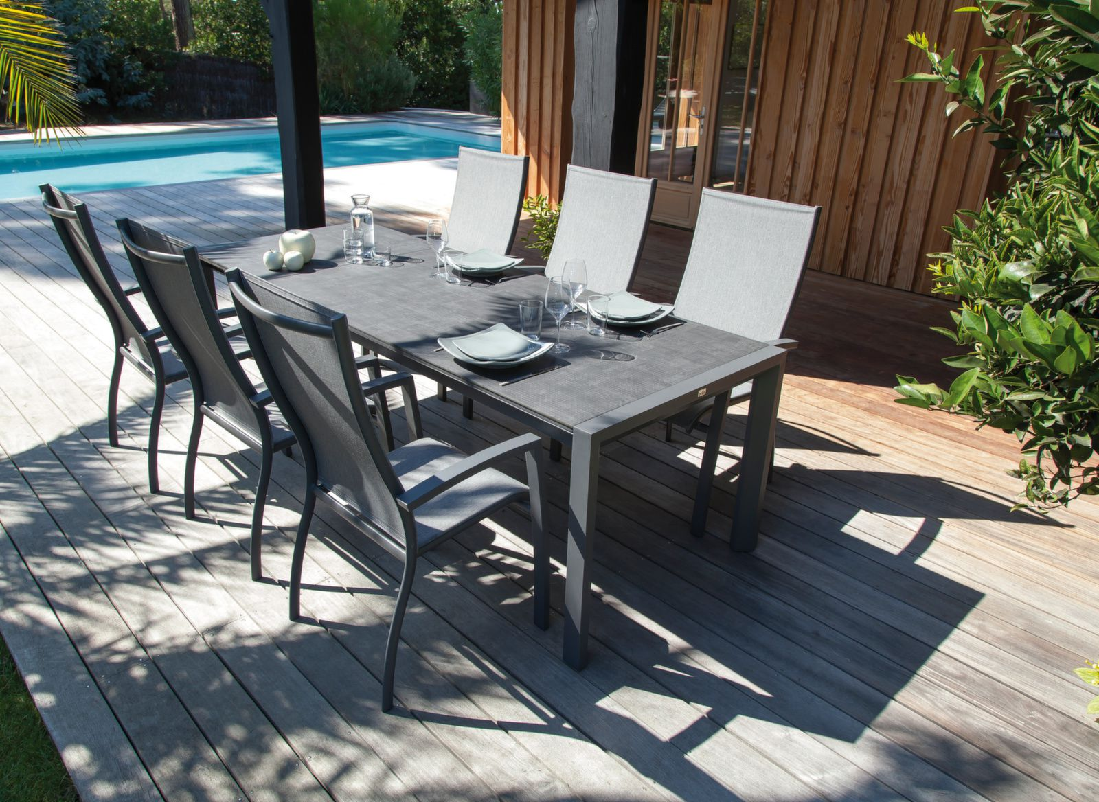 Table Milo 240/310 cm, plateau Trespa®