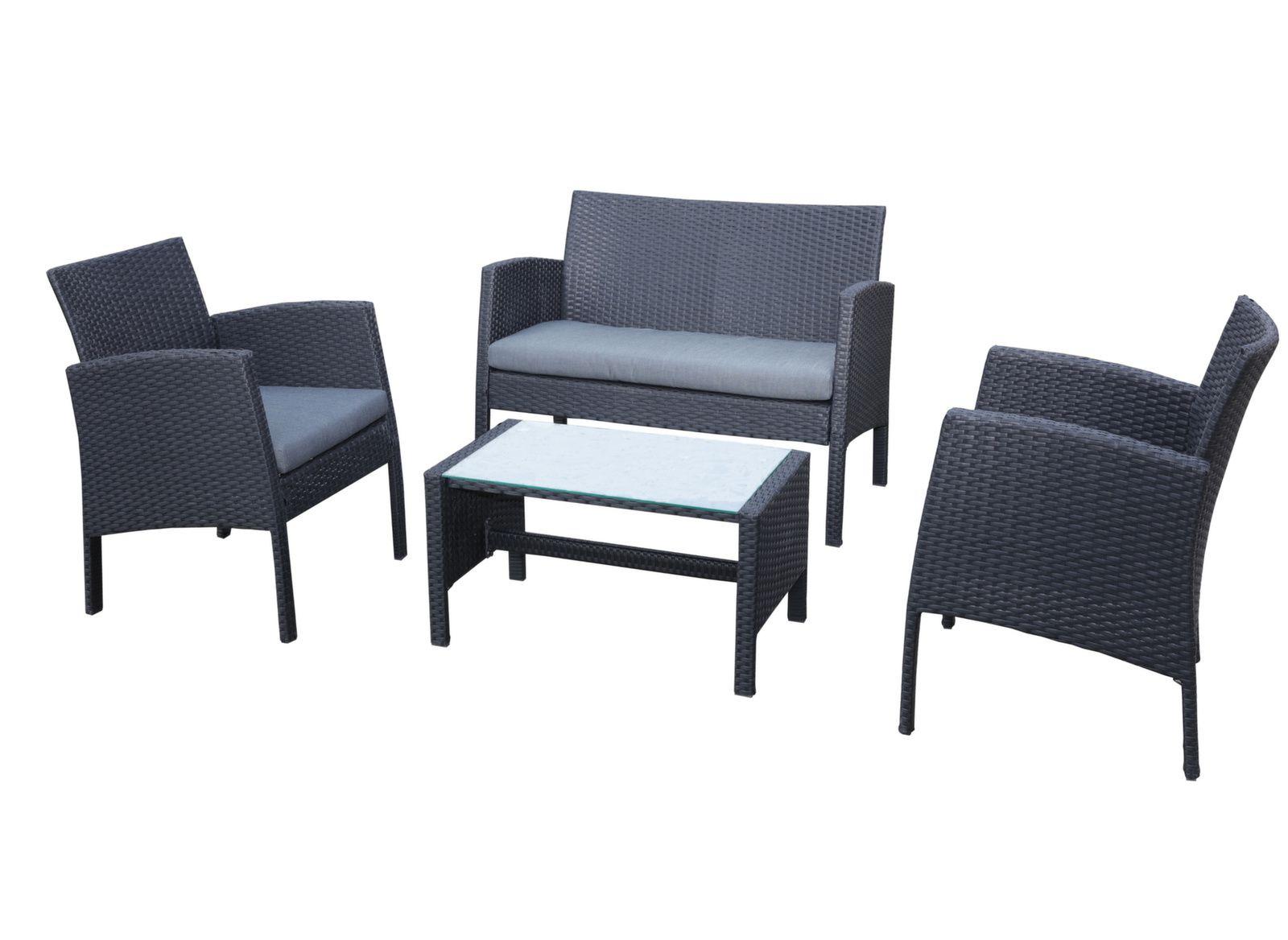 Salon de jardin Ibiscus - Canapé et fauteuils de jardin - Proloisirs