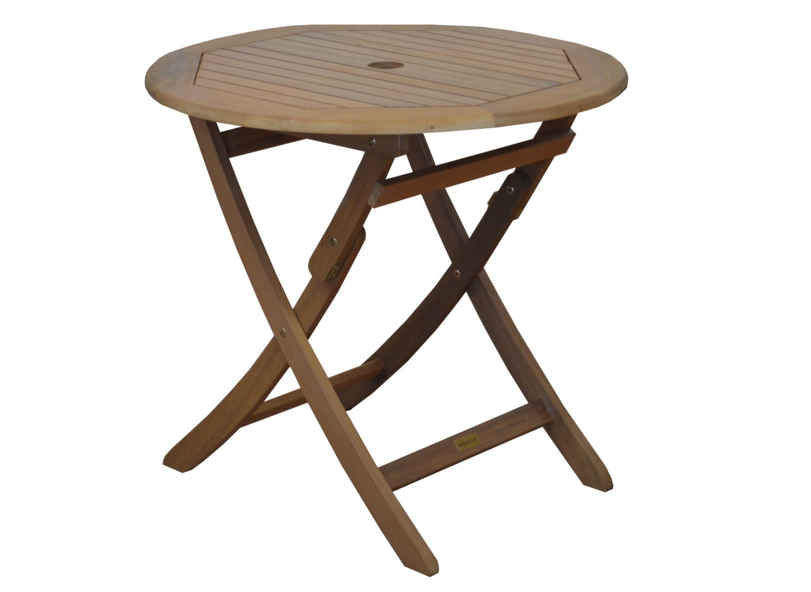 table de jardin ronde en bois sophie 80cm gamme aliz proloisirs. Black Bedroom Furniture Sets. Home Design Ideas