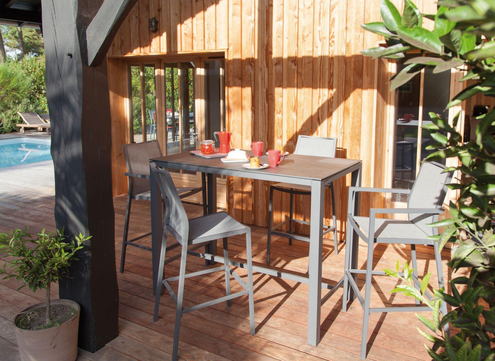df0ff11b6a49f7 Mange Debout Stoneo 140 cm, plateau Trespa® - Tables hautes de jardin