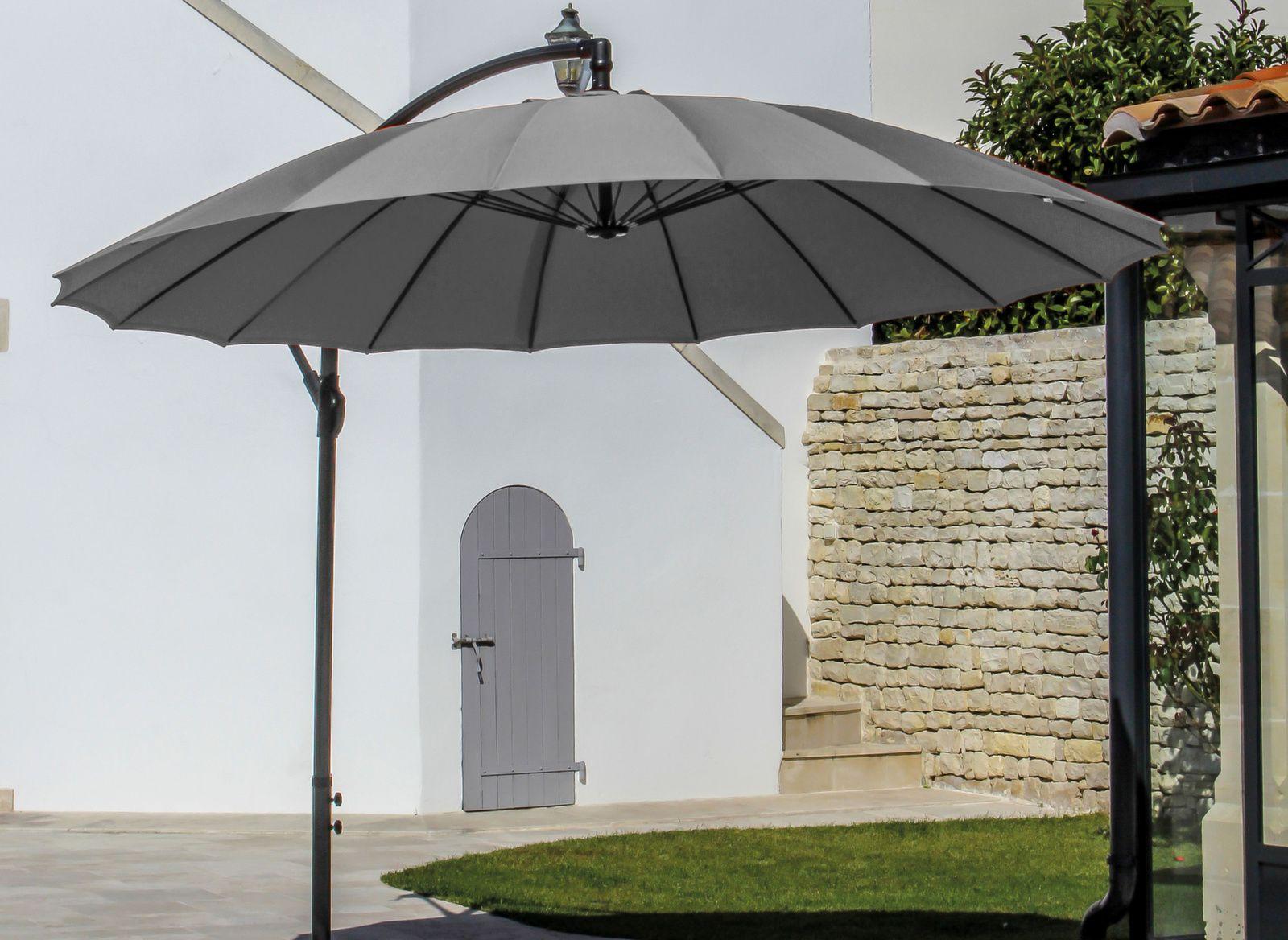 parasol d port framboise rond pagode 3m proloisirs. Black Bedroom Furniture Sets. Home Design Ideas