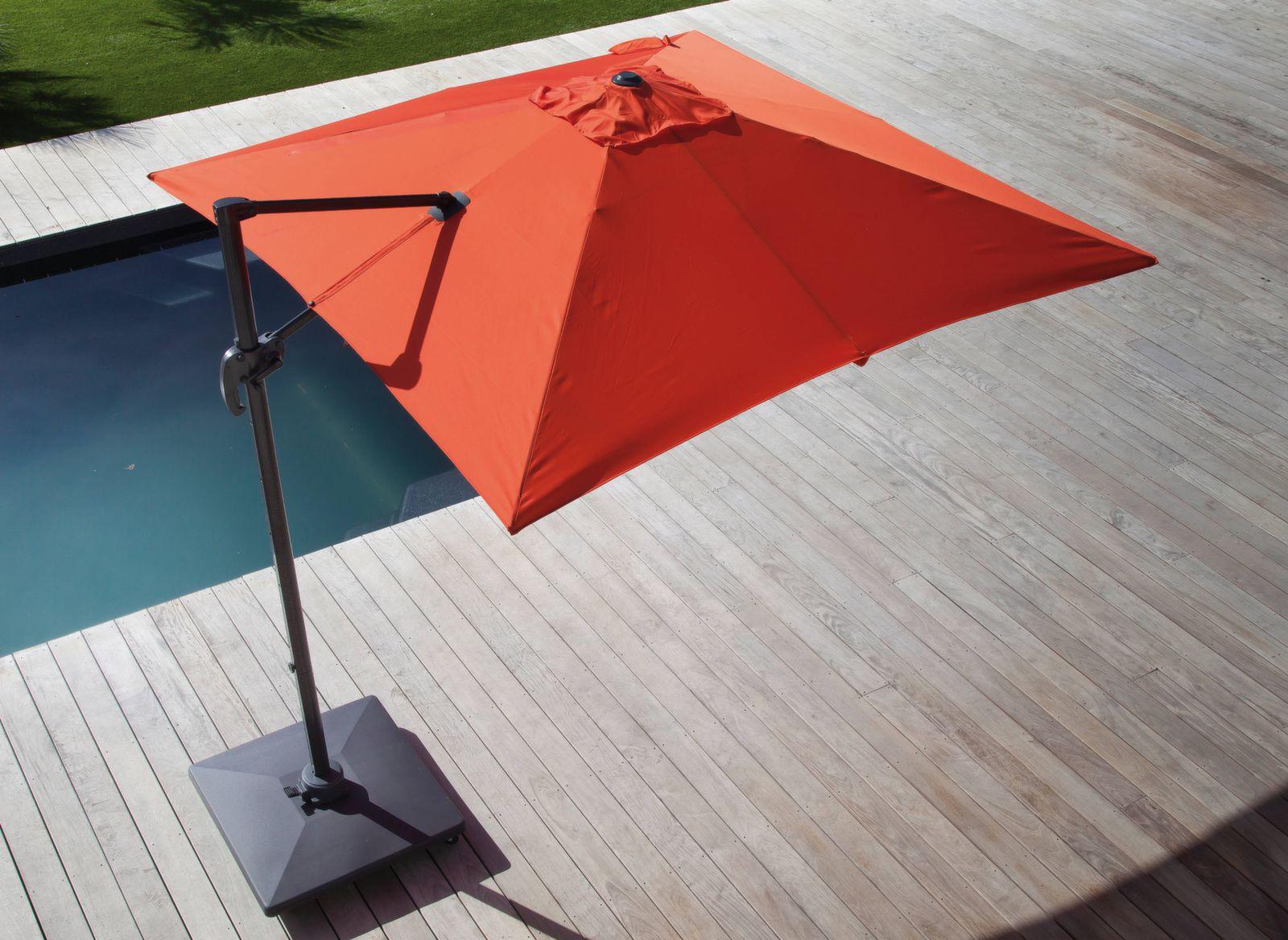 parasol d port et inclinable roma blanc gamme aliz proloisirs. Black Bedroom Furniture Sets. Home Design Ideas