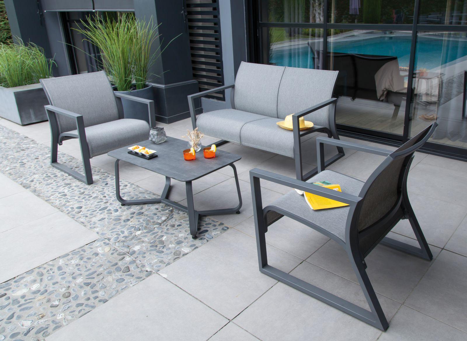 Fauteuil de jardin Lounge Quenza - Mobilier d\'extérieur ...