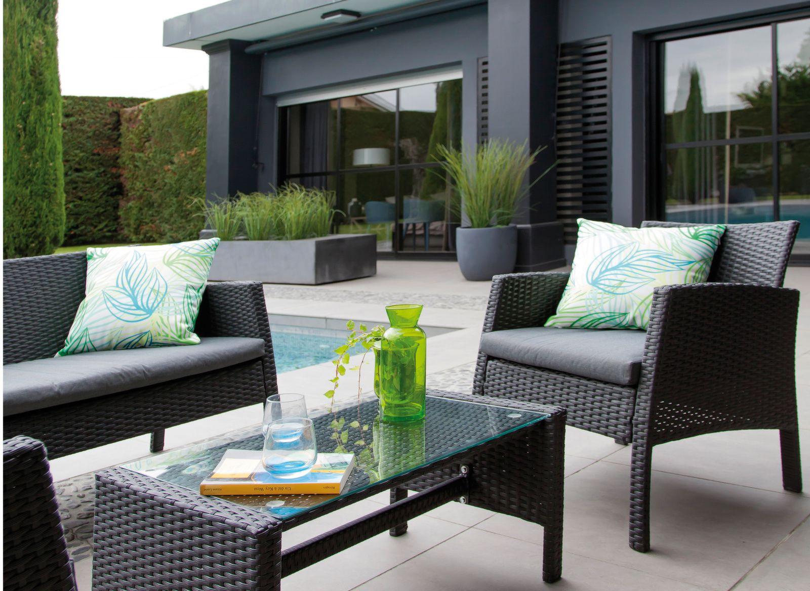 Salon de jardin Ibiscus - Canapé et fauteuils de jardin ...