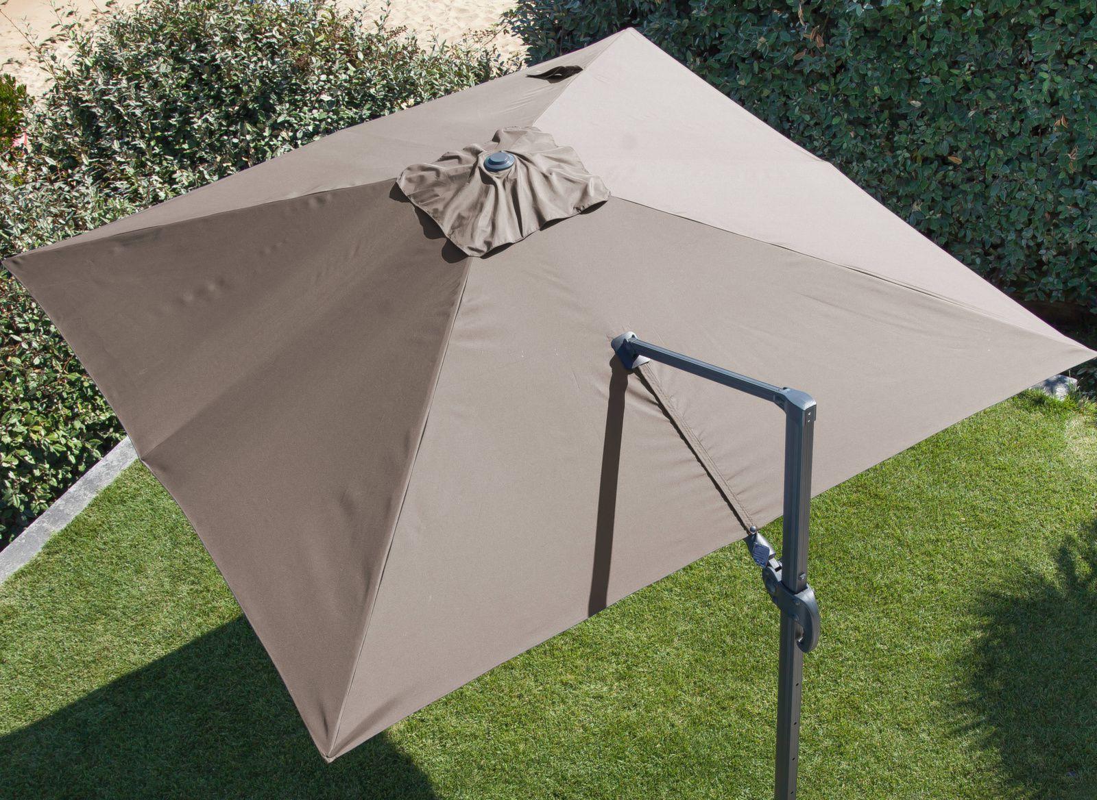 toile pour parasol d port 3 x 3 m orientable proloisirs. Black Bedroom Furniture Sets. Home Design Ideas