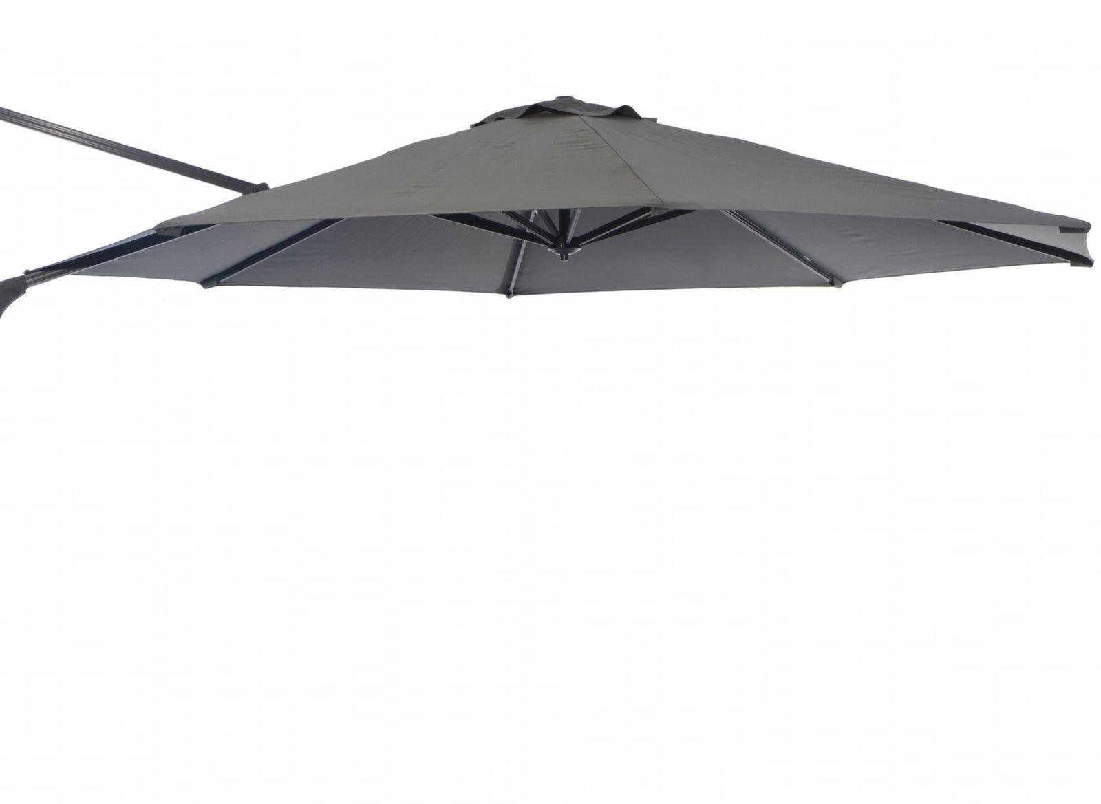 Toile grise pour parasol d port 3 5 proloisirs - Toile de parasol deporte ...