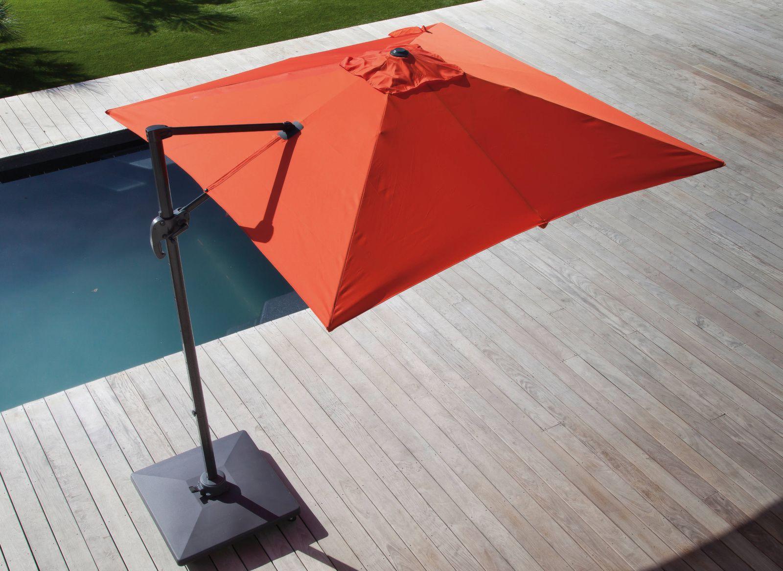 parasol d port et inclinable 3x3m roma gamme aliz. Black Bedroom Furniture Sets. Home Design Ideas