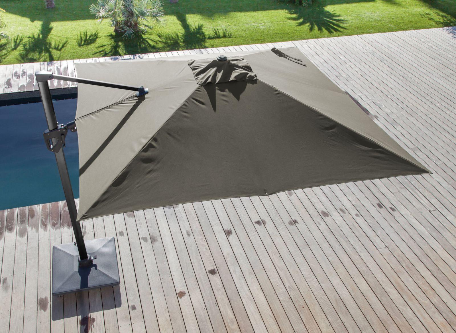 Parasol déporté Elios 3 x 3 m orientable