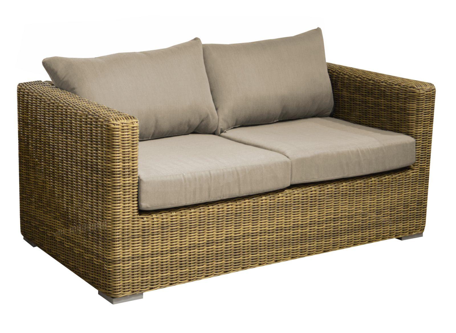 canap 2 places rattan mobilier de jardin de d tente bons plans et promotions proloisirs. Black Bedroom Furniture Sets. Home Design Ideas