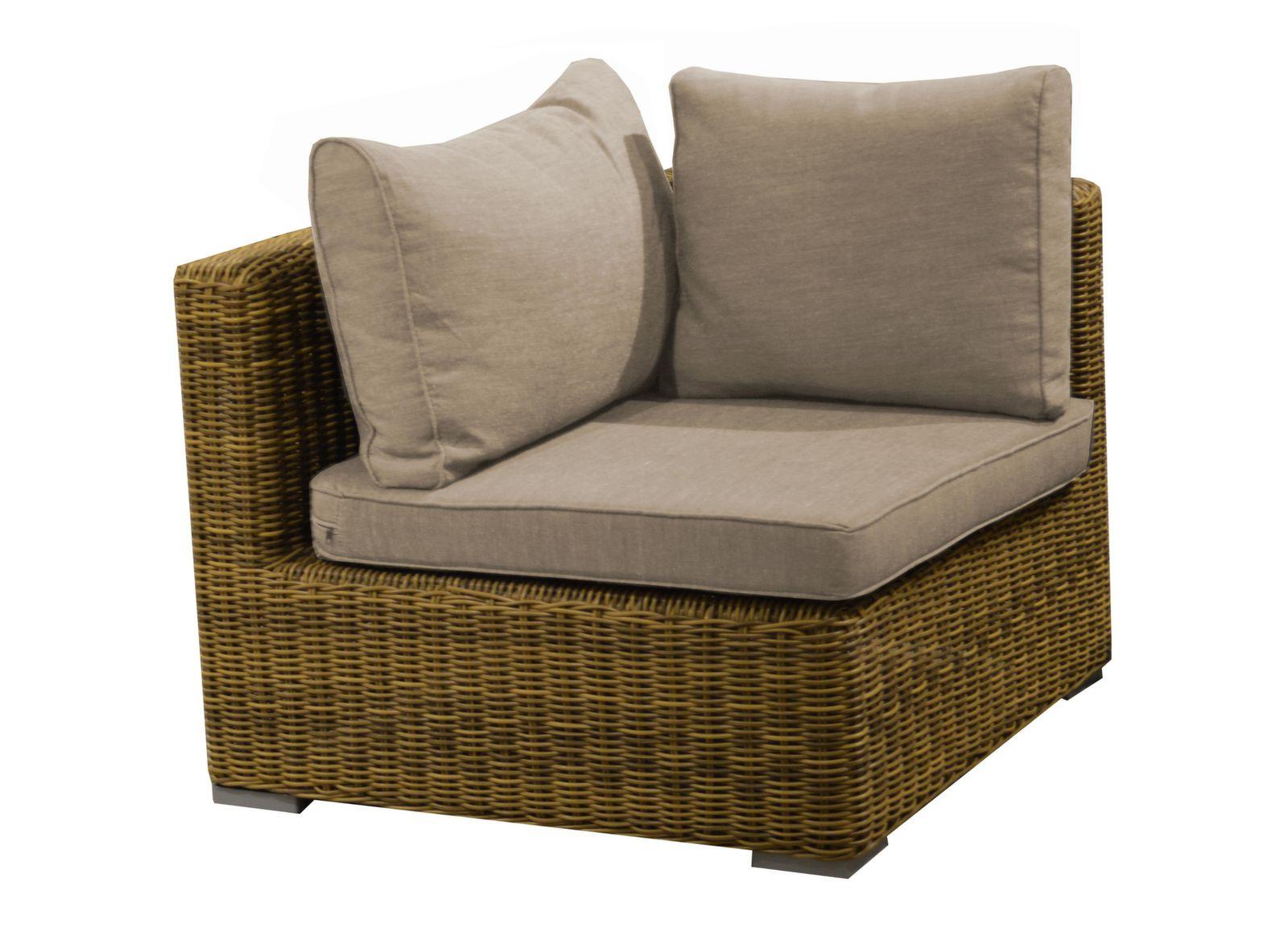 fauteuil d 39 angle rattan mobilier de jardin de d tente. Black Bedroom Furniture Sets. Home Design Ideas