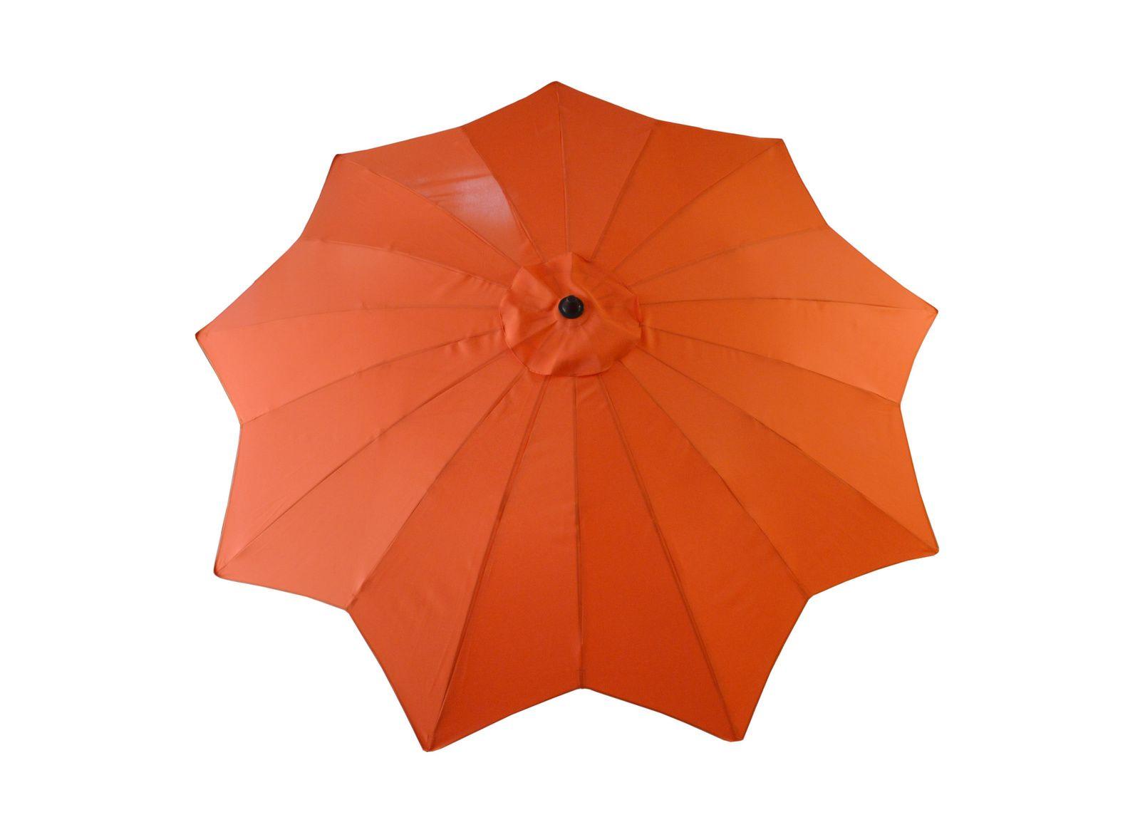 Parasol droit Ø 300 Calice, manivelle