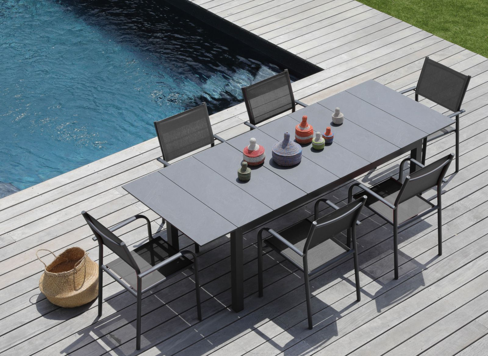 Table Tahaa 180/240cm, Plateau Arpa