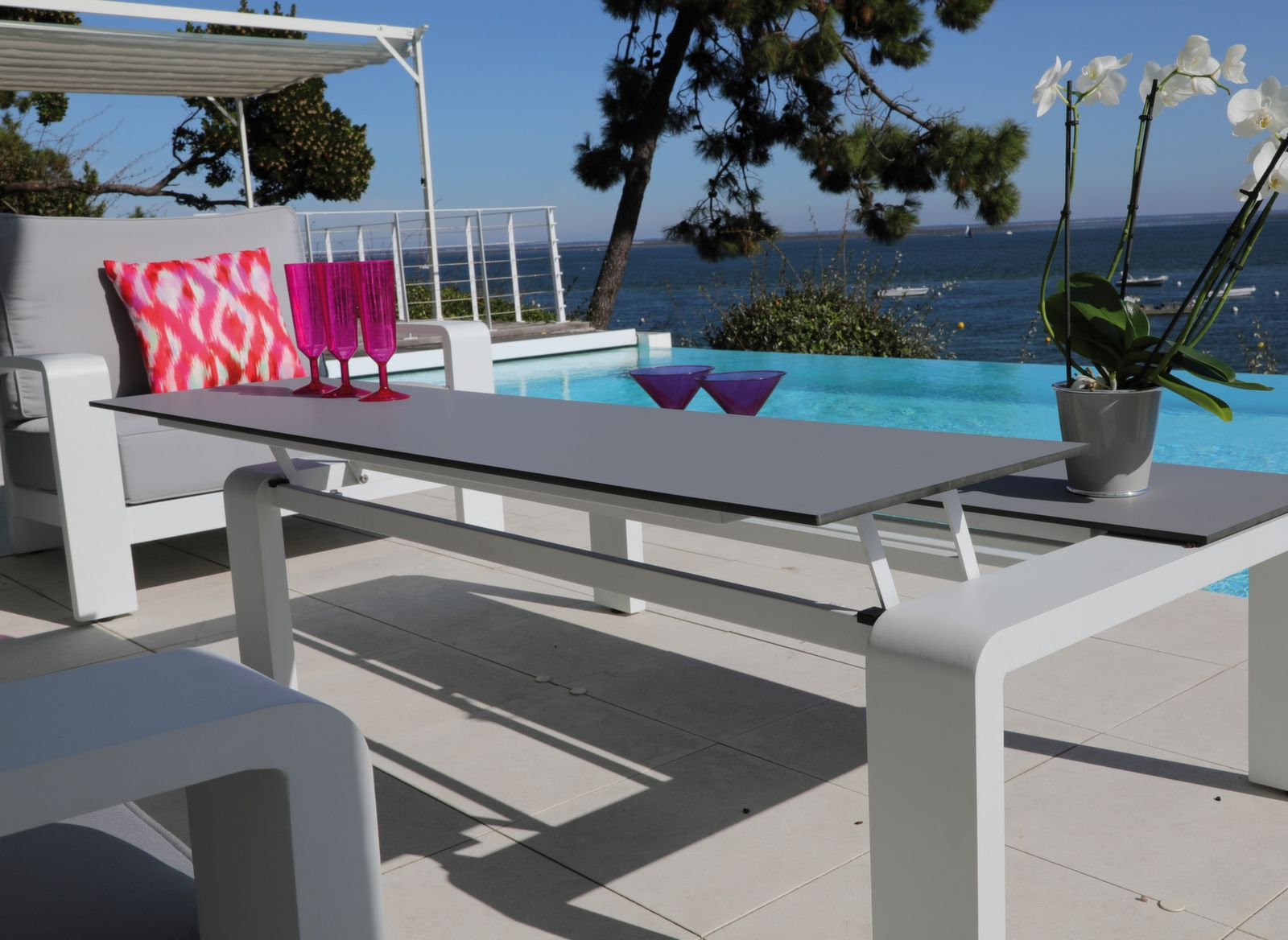 Table Basse De Jardin Avec Plateau Relevable Cordouan Proloisirs