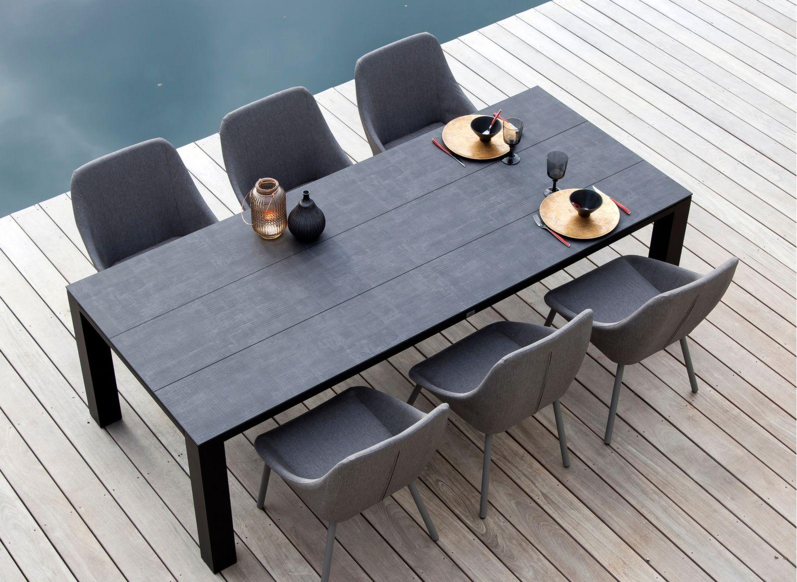 Table Torino 238 cm, plateau 3 lames Trespa®