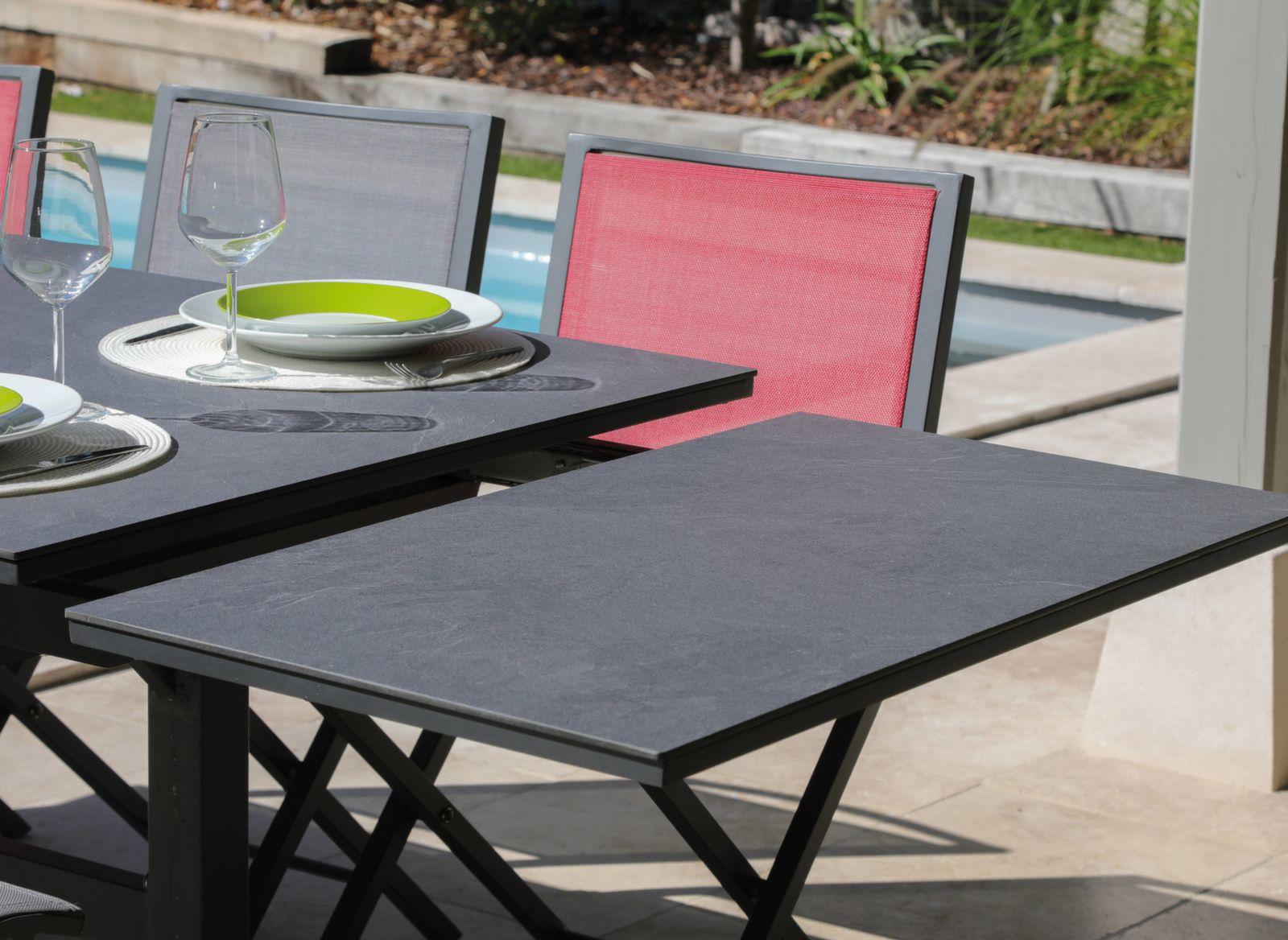 Table Sotta 150/200/250 cm, plateau Arpa