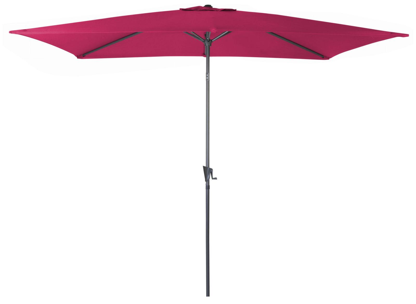 Parasol droit 3 x 2 m Manivelle
