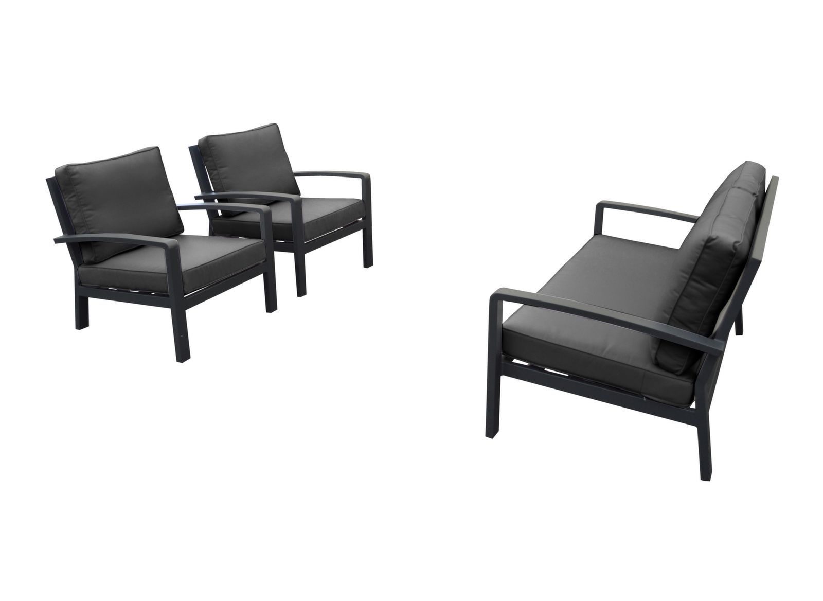 Canapé Qui S Affaisse Solution ensemble détente matéo (2 fauteuils + 1 canapé 2 places)
