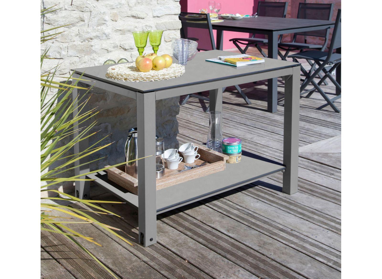 Table Plancha 100 x 70 cm, plateau Trespa®