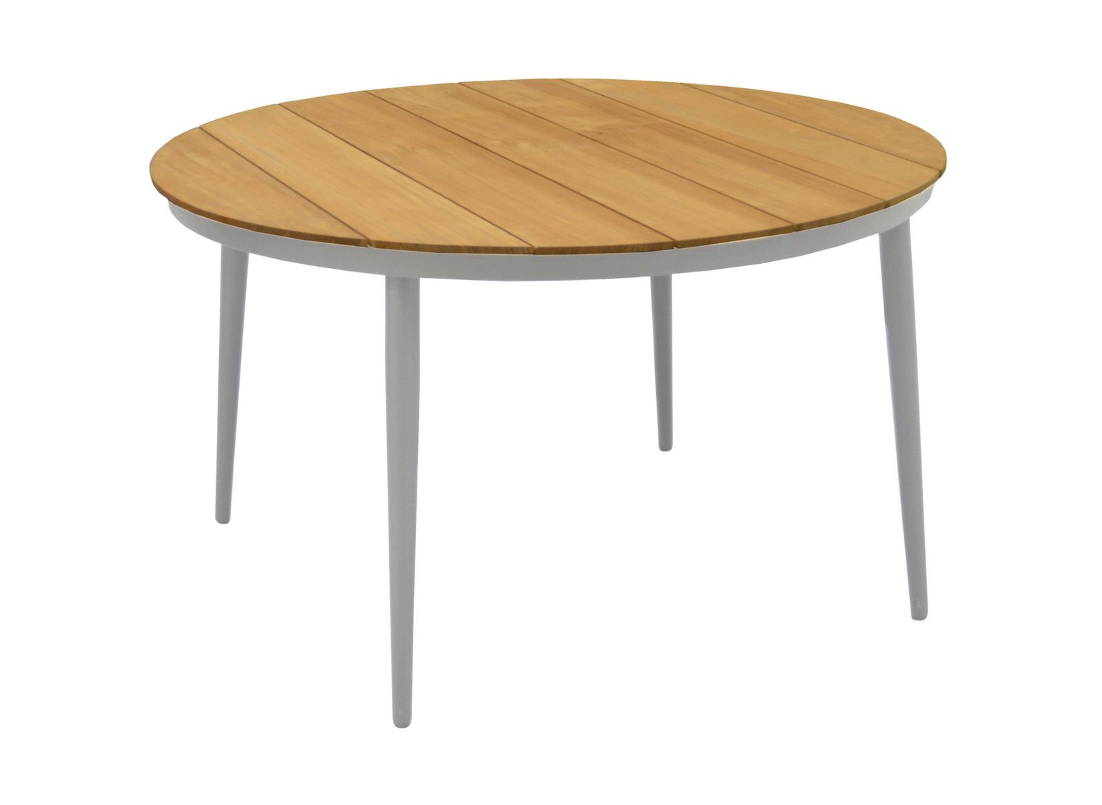 Table Neuvic ø 130 cm, plateau Teck