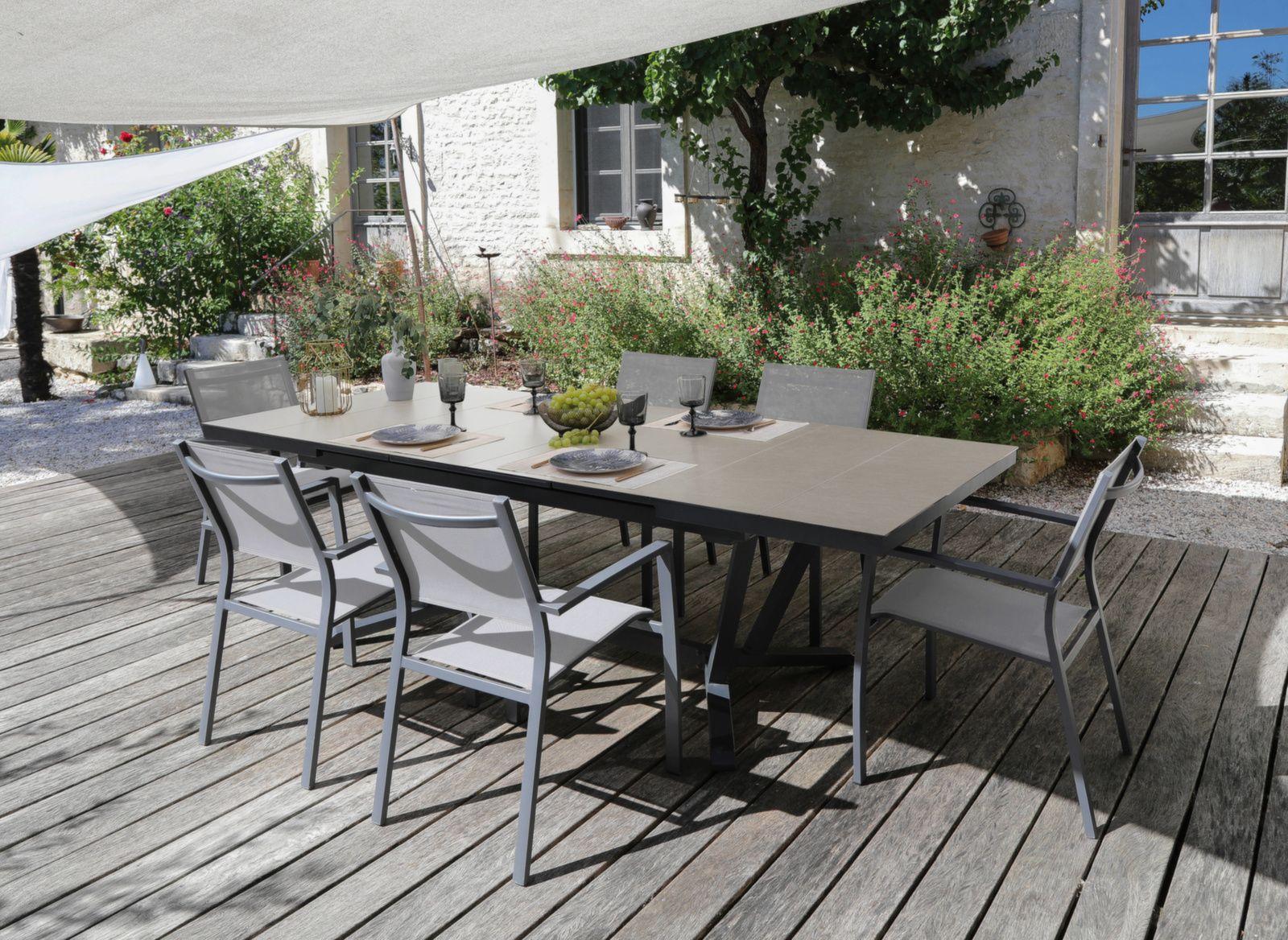 Table Vita 180/240 cm, plateau à lames Kedra®