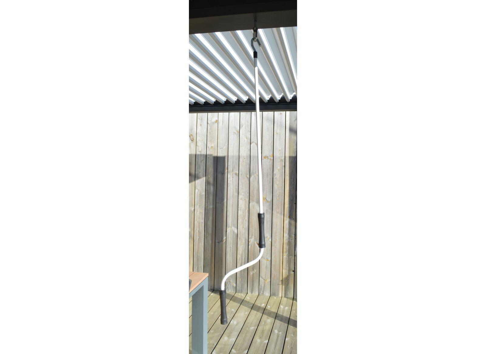 Tonnelle bioclimatique autoportée Eris 3x4 m manuelle