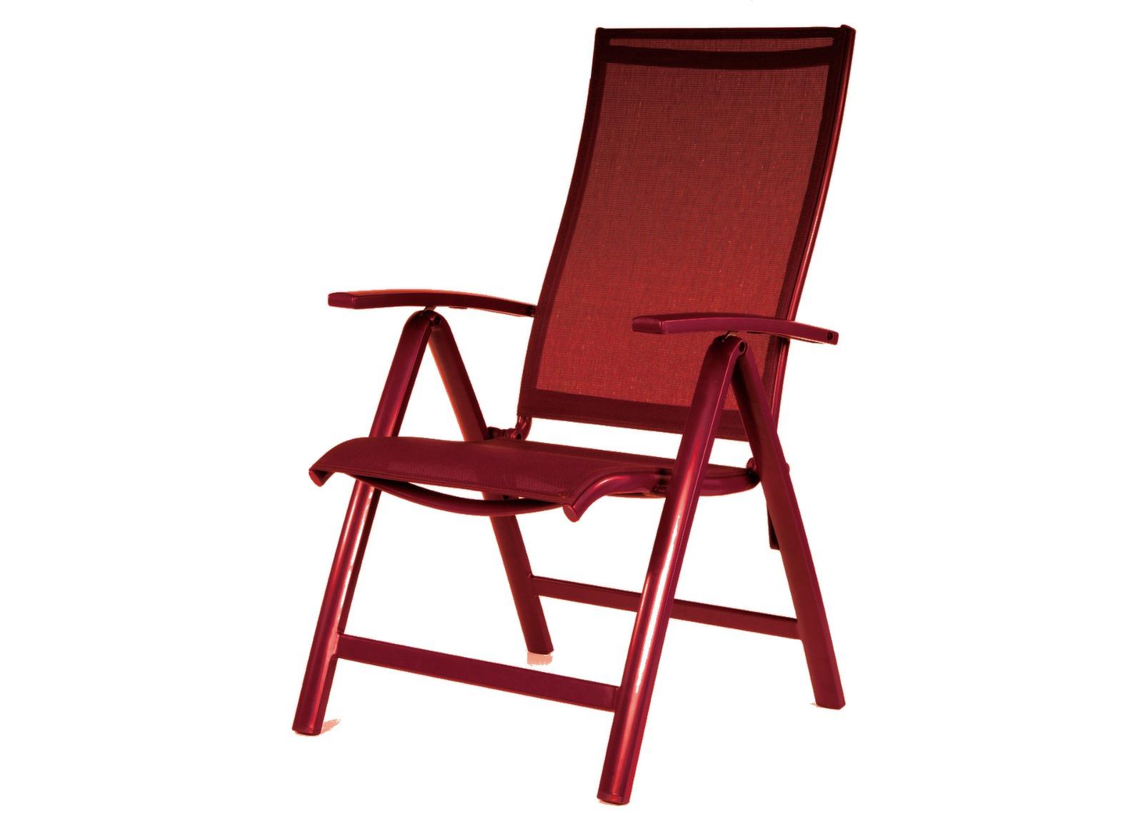 Fauteuil Multipositions Elegance rouge/rouge - Chaises et ...