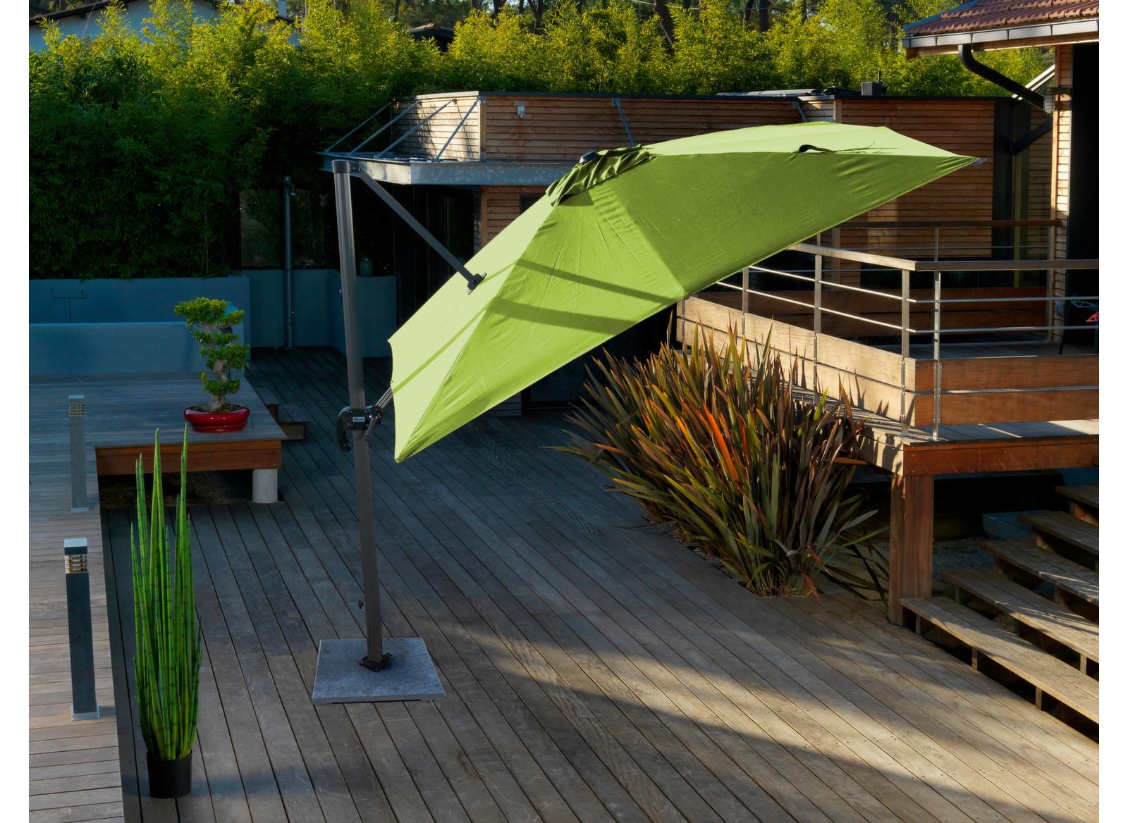 parasol d port 3x3 m lime parasol d port carr rond. Black Bedroom Furniture Sets. Home Design Ideas