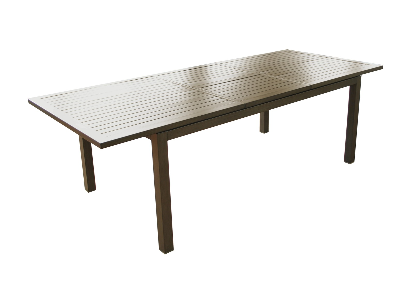 Table extensible milano 180 240 x 100 cm mobilier de for Table extensible 120 240 cm allonge integree