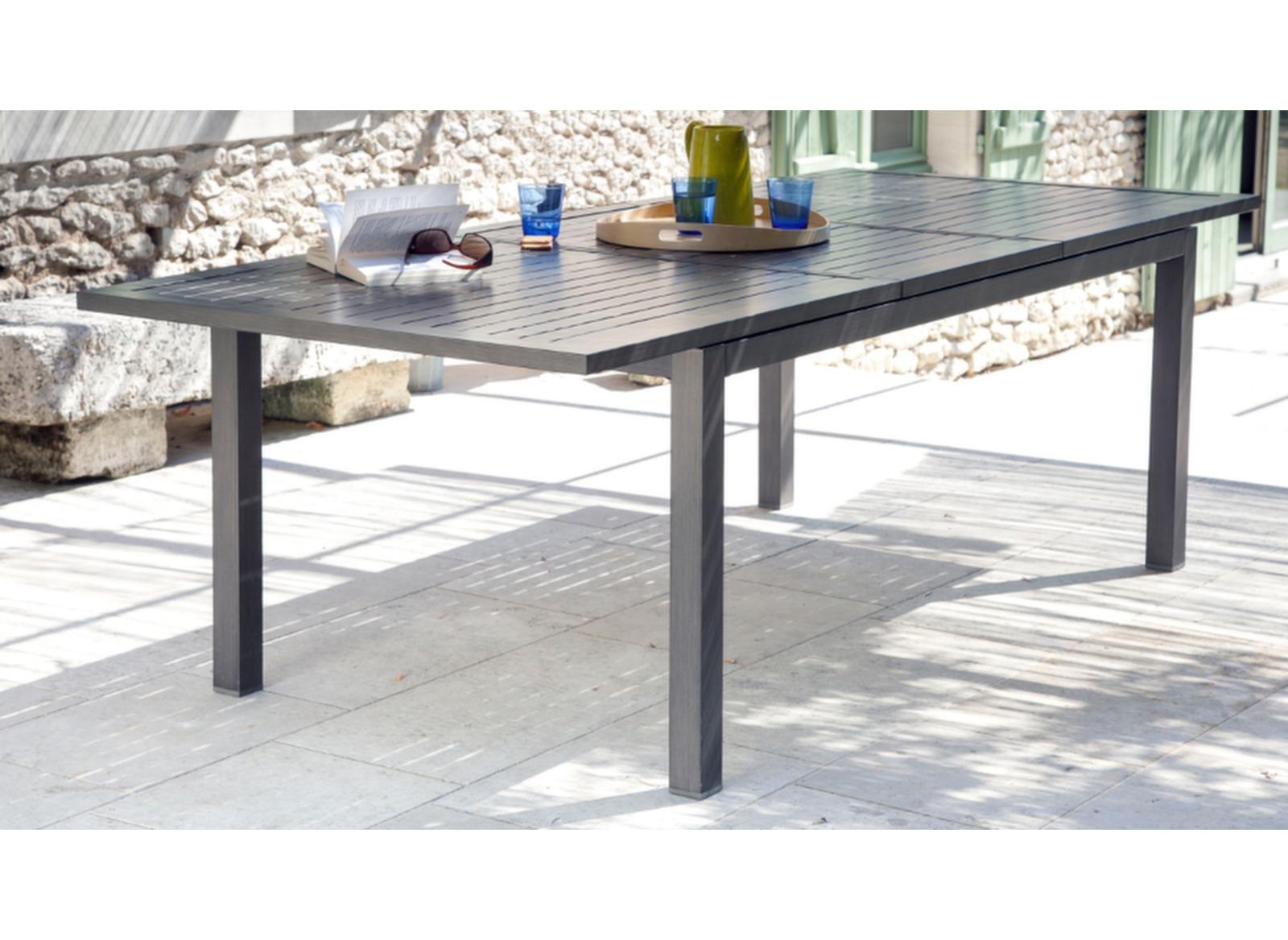 Table extensible milano 180 240 x 100 cm mobilier de for Table extensible pour veranda