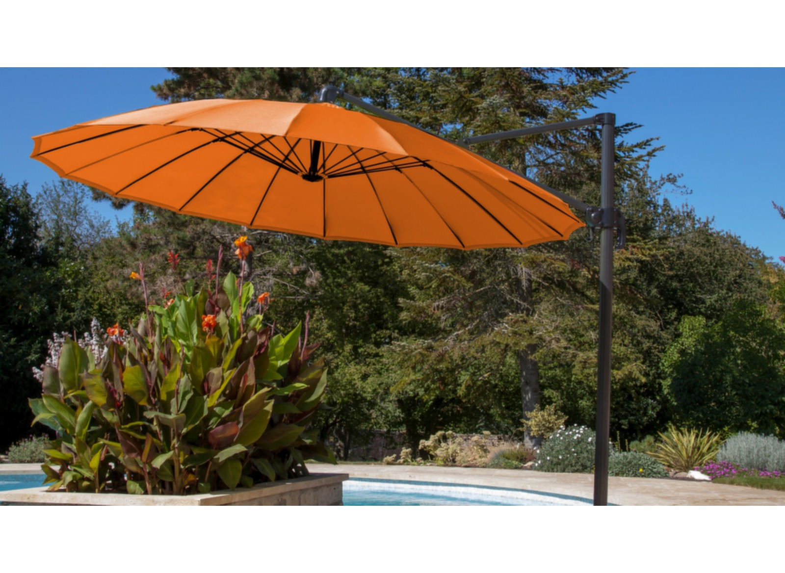 parasol d port pagode luxe 3 m mandarine parasol d port carr rond ou 3x4 meubles d. Black Bedroom Furniture Sets. Home Design Ideas