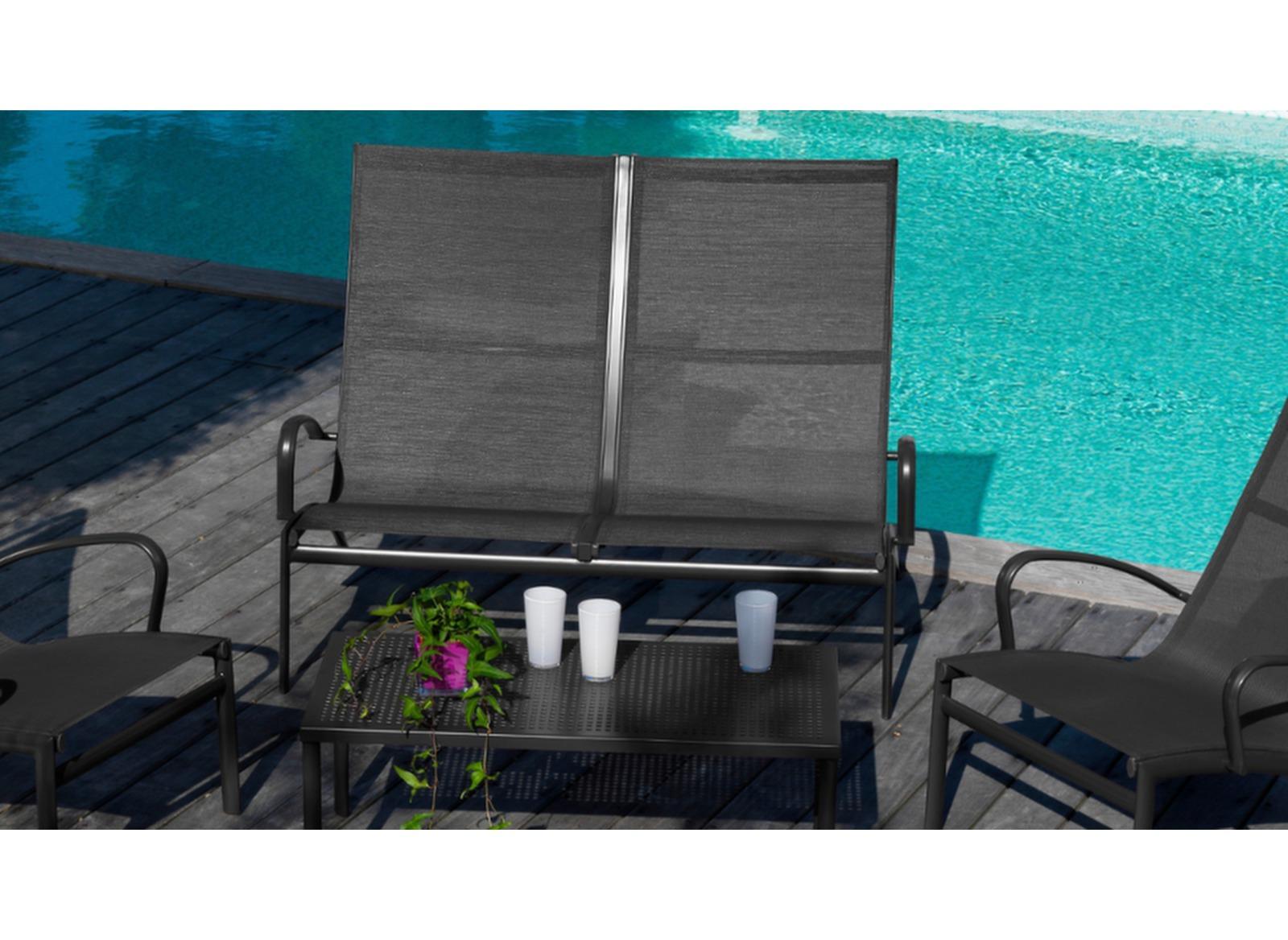 Canap de jardin lounge en solde canap lounge proloisirs for Canape de jardin solde