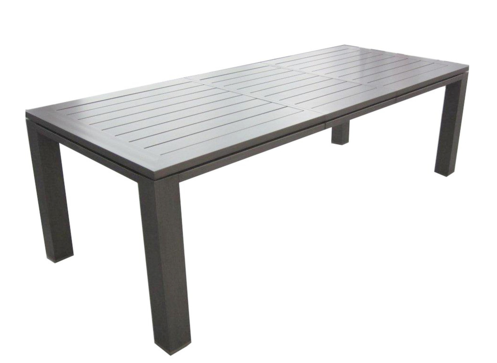 Table de jardin aluminium 180 240cm latino gamme aliz for Table exterieur en aluminium
