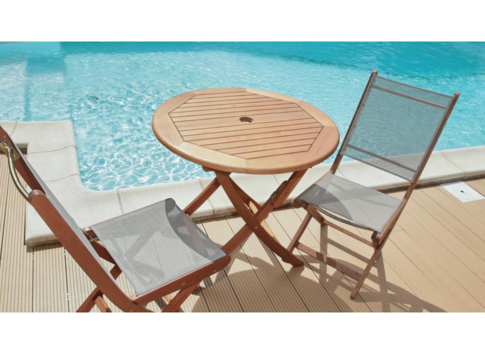 Table de jardin ronde sophie 80cm proloisirs - Table ronde pas chere ...