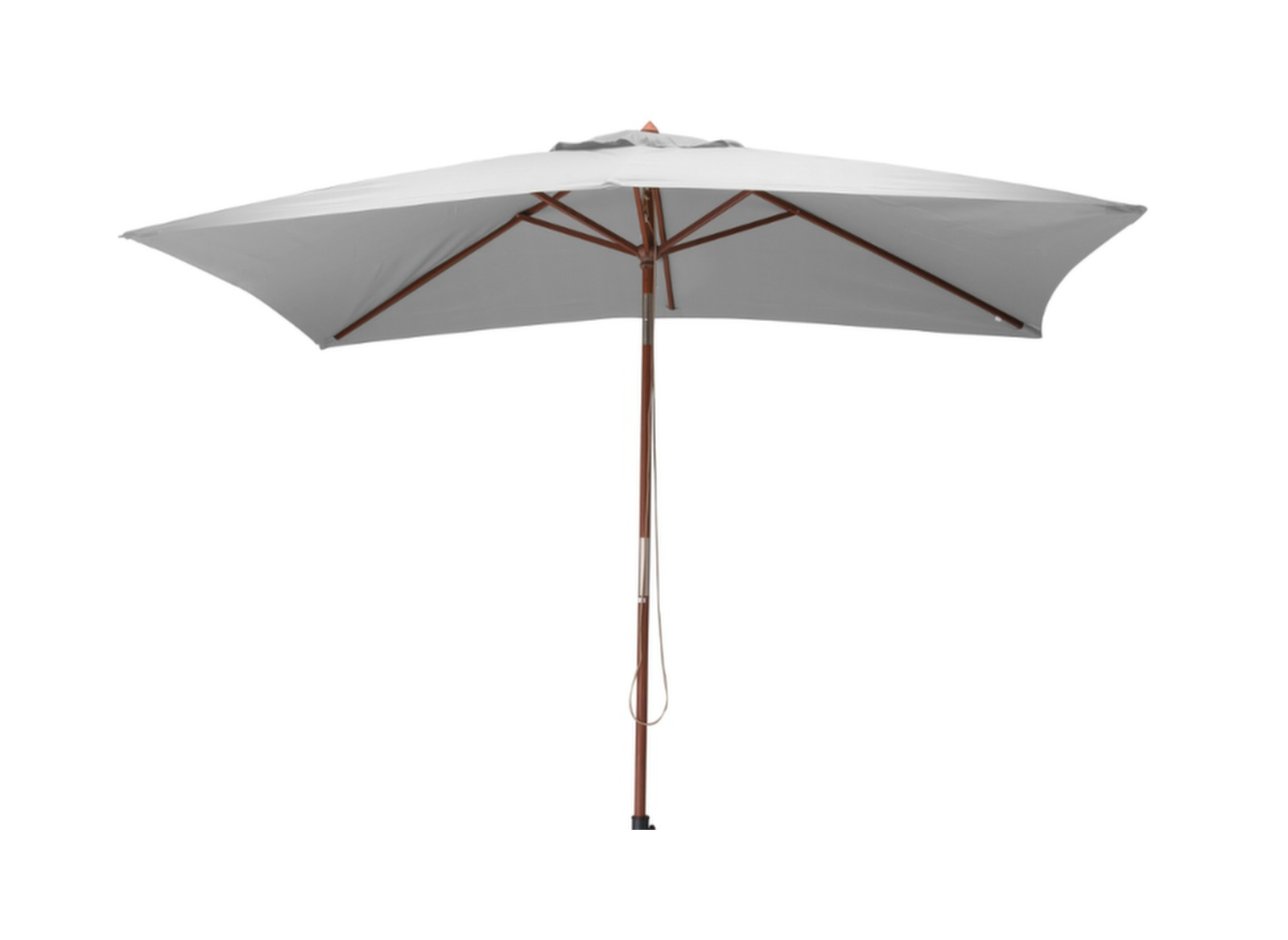 parasol bois cru rectangle 3x2m proloisirs. Black Bedroom Furniture Sets. Home Design Ideas