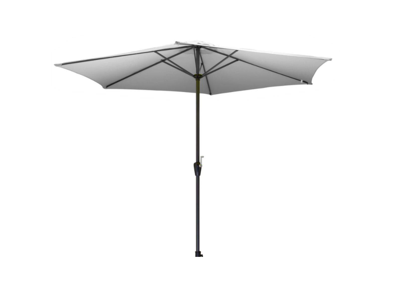 parasol aluminium avec manivelle 3m mobilier de jardin. Black Bedroom Furniture Sets. Home Design Ideas