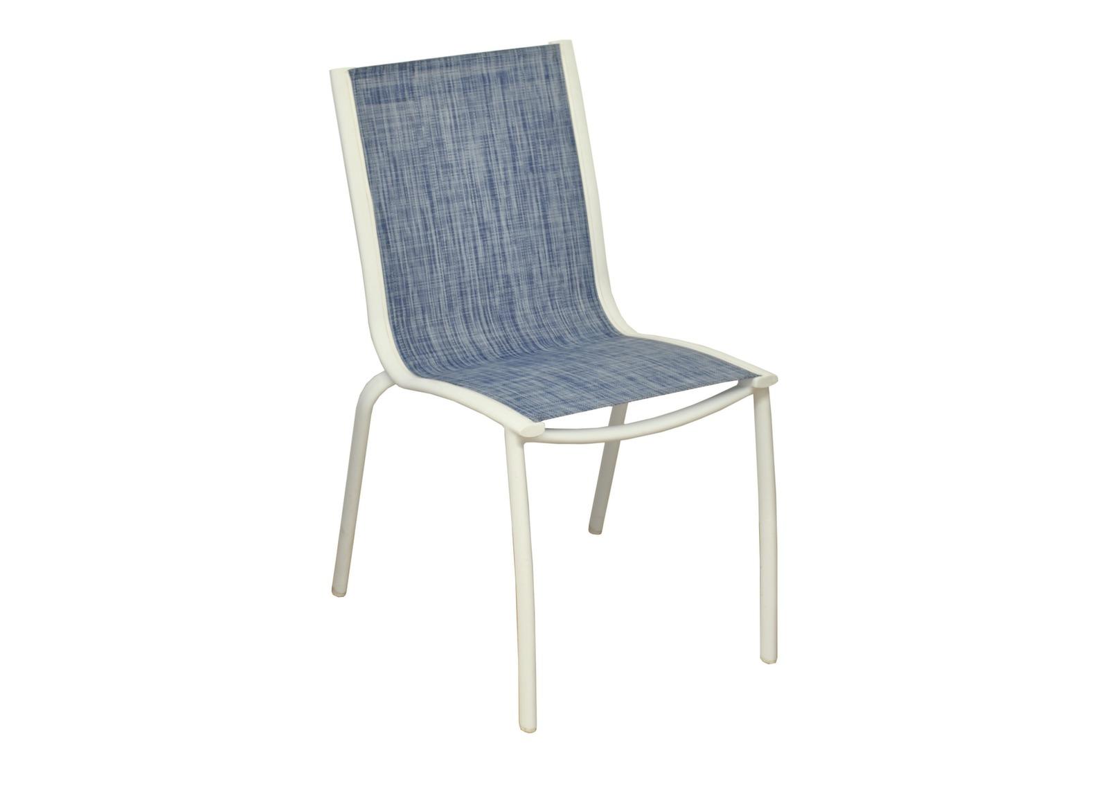 Chaise de jardin blanche et grise lin a proloisirs for Chaise blanche et grise