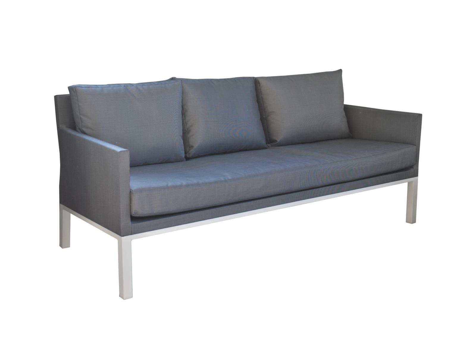 Canap oslo 3 places blanc s argent table basse for Achat mobilier de jardin en ligne