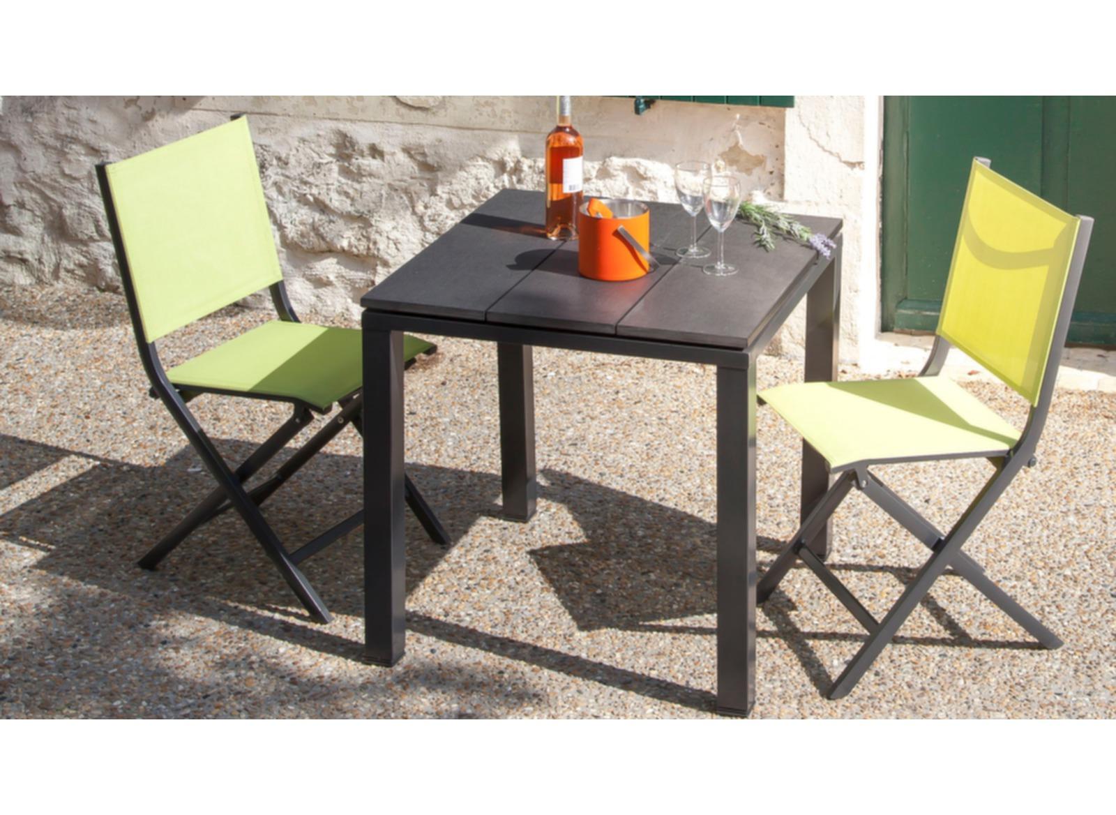 gu ridon de jardin look bois aliz 75 cm proloisirs. Black Bedroom Furniture Sets. Home Design Ideas