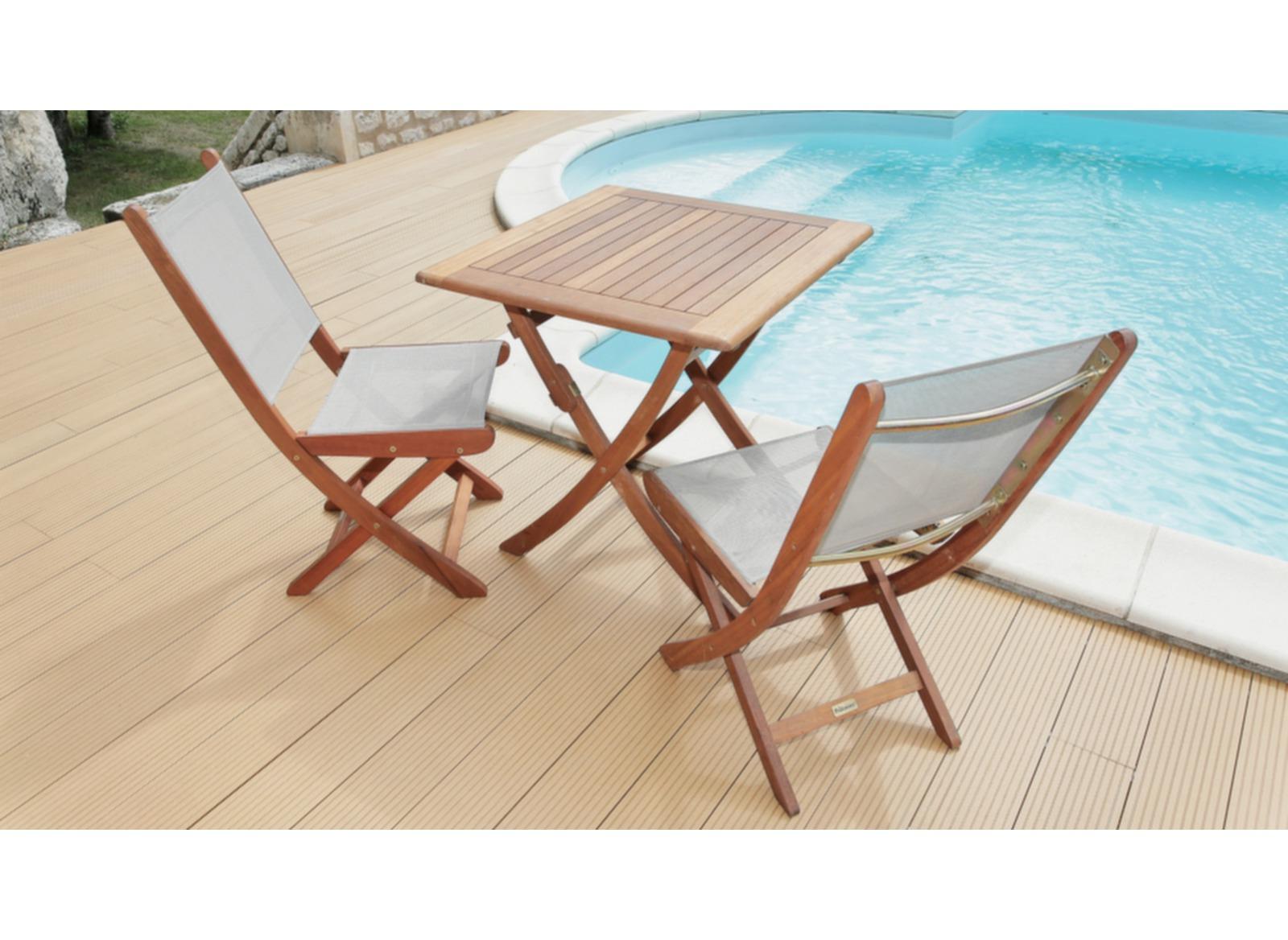 table de jardin en eucalyptus sophie 70cm proloisirs. Black Bedroom Furniture Sets. Home Design Ideas