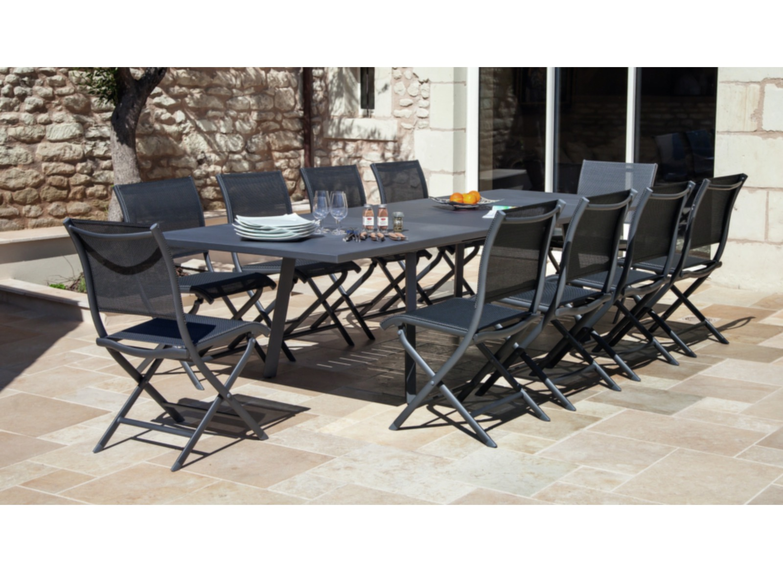 table de jardin 12 personnes barcelona oc o. Black Bedroom Furniture Sets. Home Design Ideas