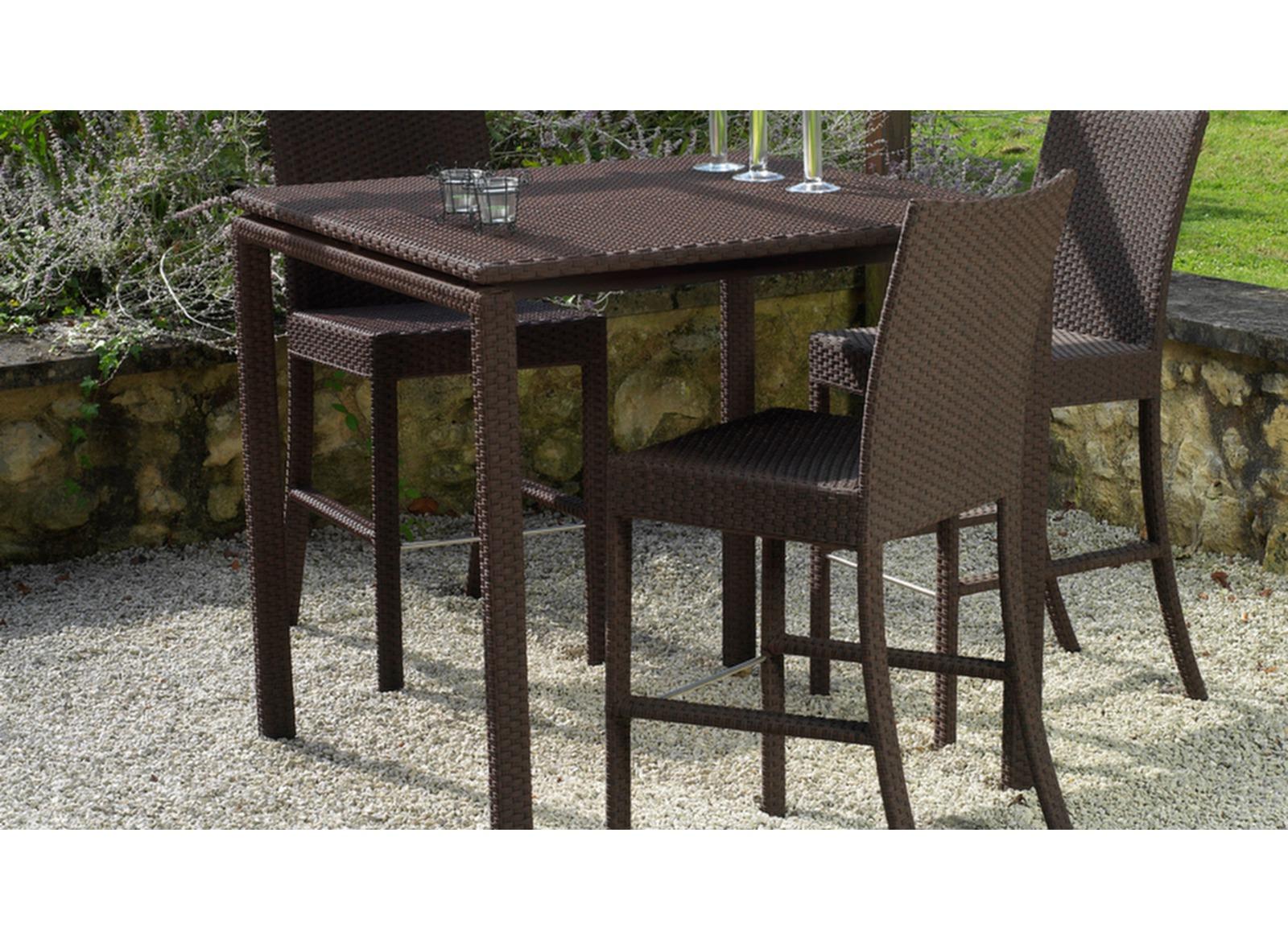 promotion table bar de jardin r sine tress e azur oc o. Black Bedroom Furniture Sets. Home Design Ideas