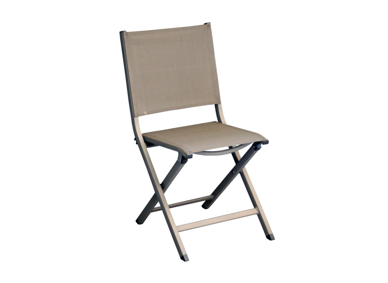 Guéridon Caly 90 cm + 2 chaises pliantes Théma