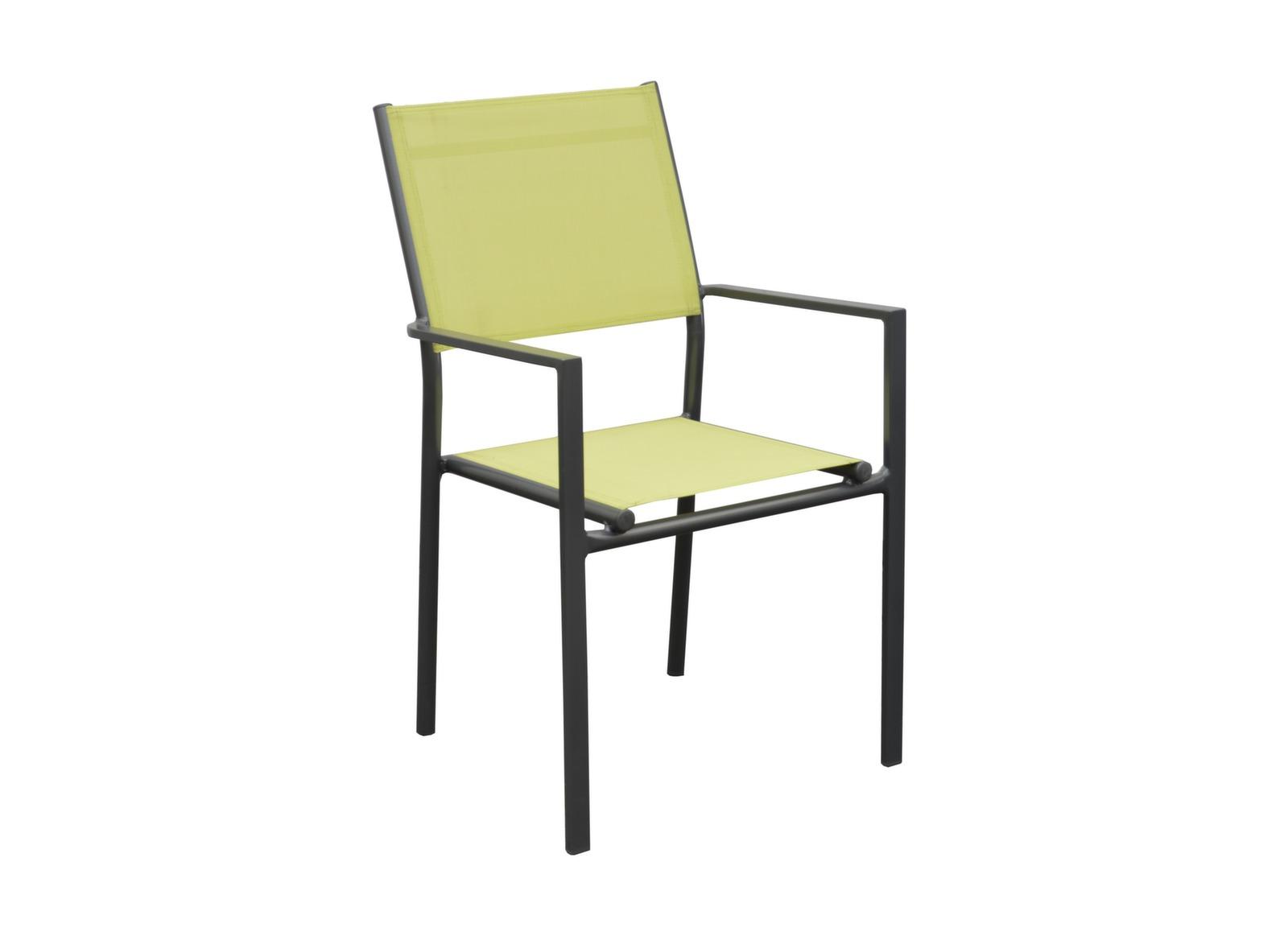 fauteuil de jardin gris et vert anis thema proloisirs. Black Bedroom Furniture Sets. Home Design Ideas